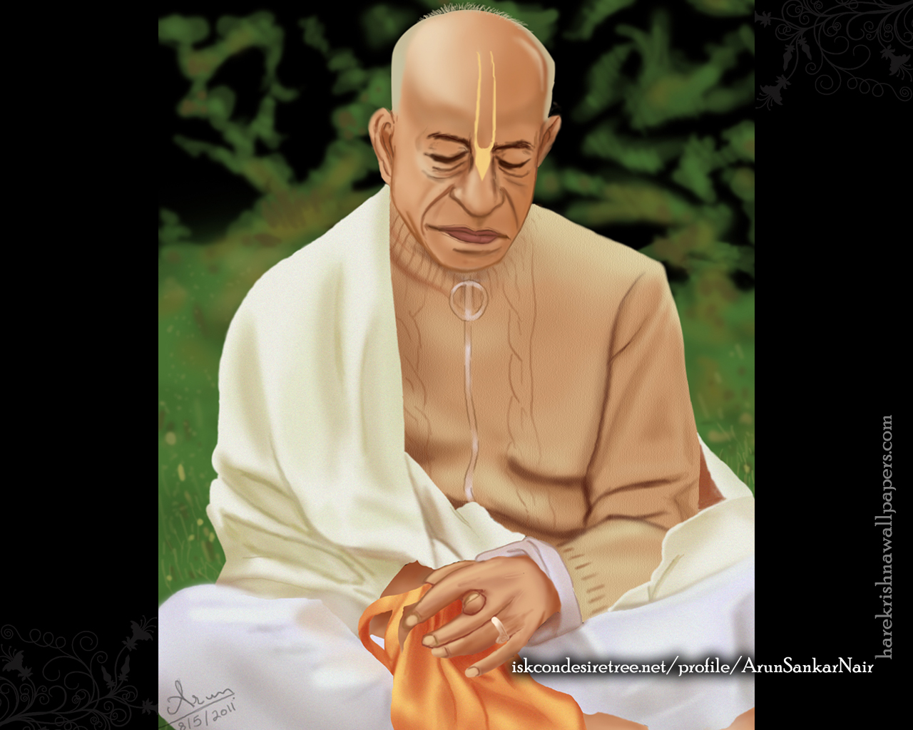 ISKCON Founder Acharya Srila Prabhupada Wallpaper (001) Size 1280x1024 Download