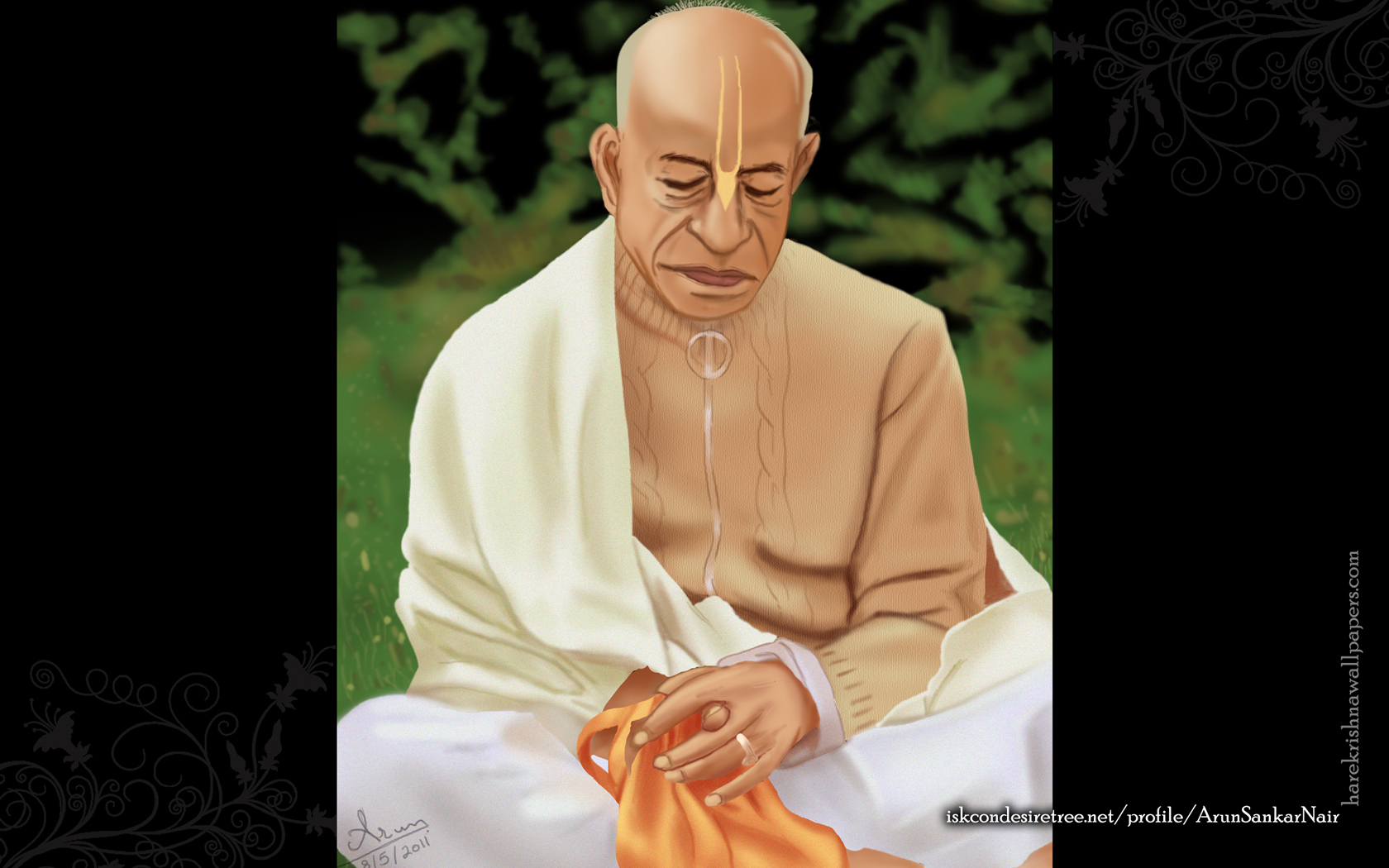 ISKCON Founder Acharya Srila Prabhupada Wallpaper (001) Size 1680x1050 Download