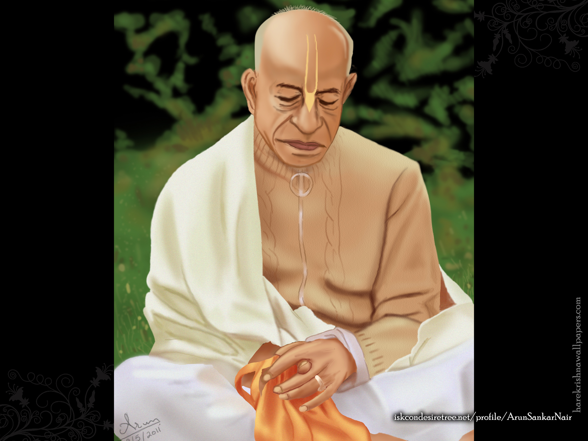 ISKCON Founder Acharya Srila Prabhupada Wallpaper (001) Size 2400x1800 Download