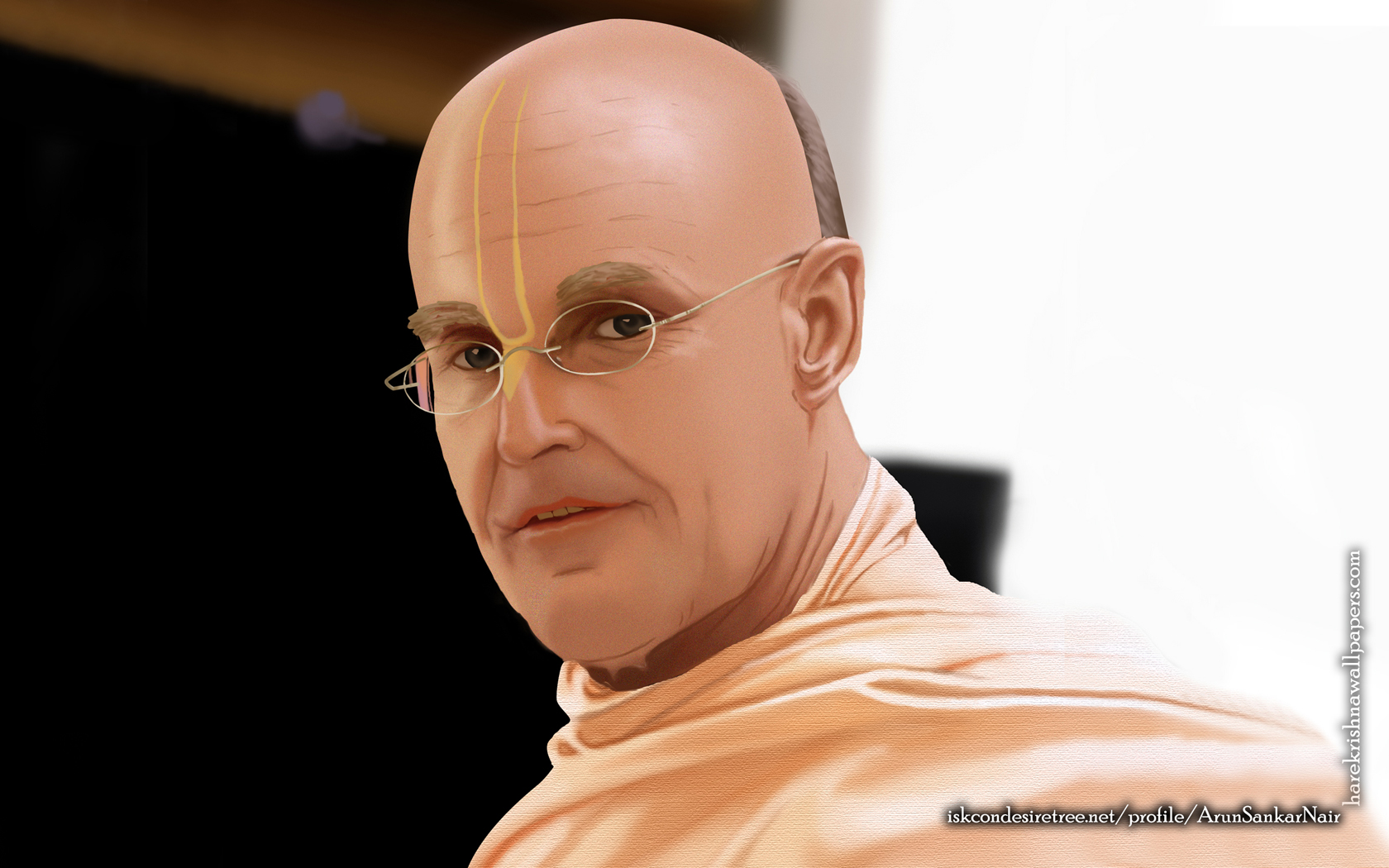 His Holiness Indradyumna Swami Wallpaper (003) Size 1680x1050 Download