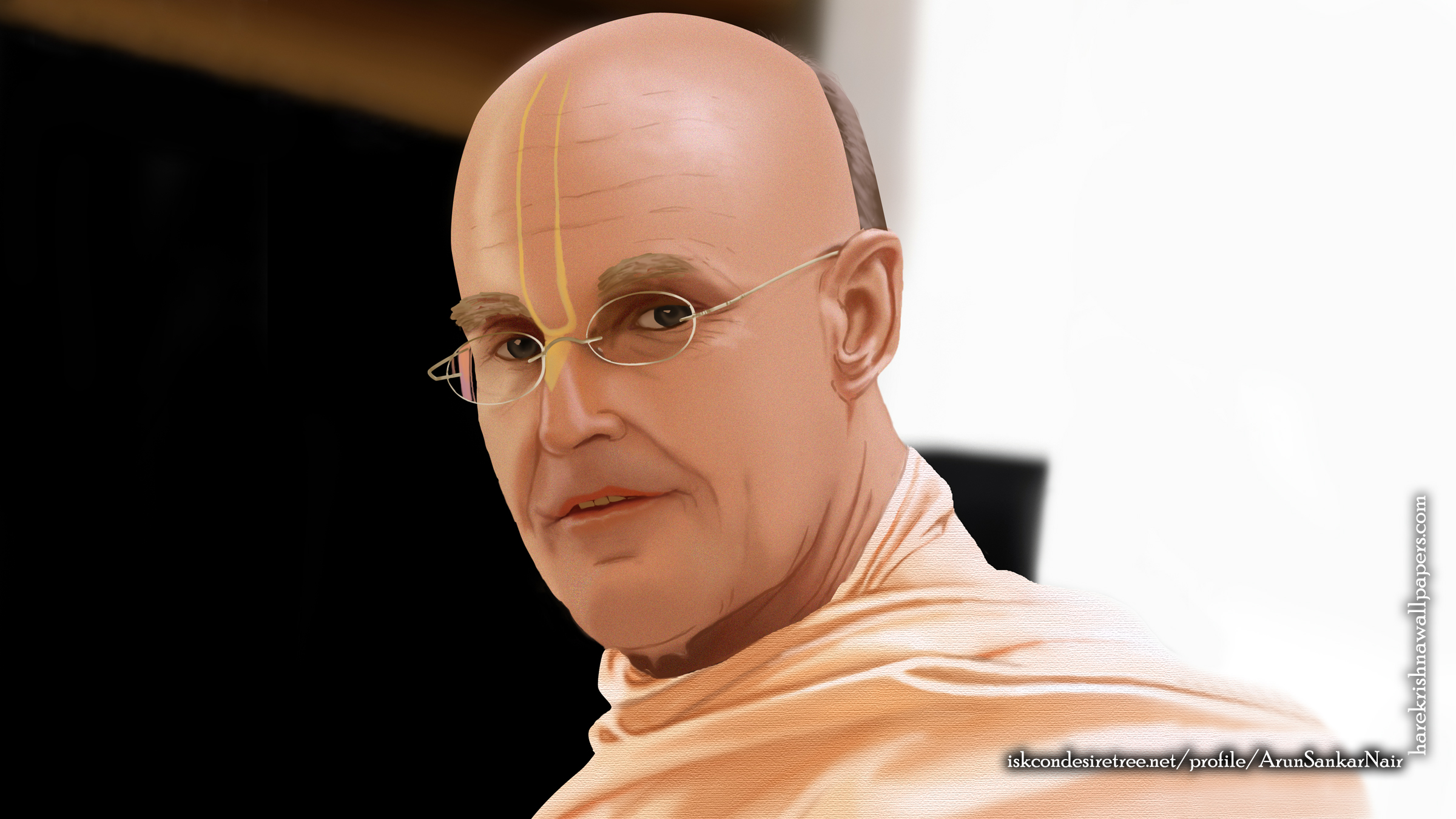 His Holiness Indradyumna Swami Wallpaper (003) Size 2400x1350 Download