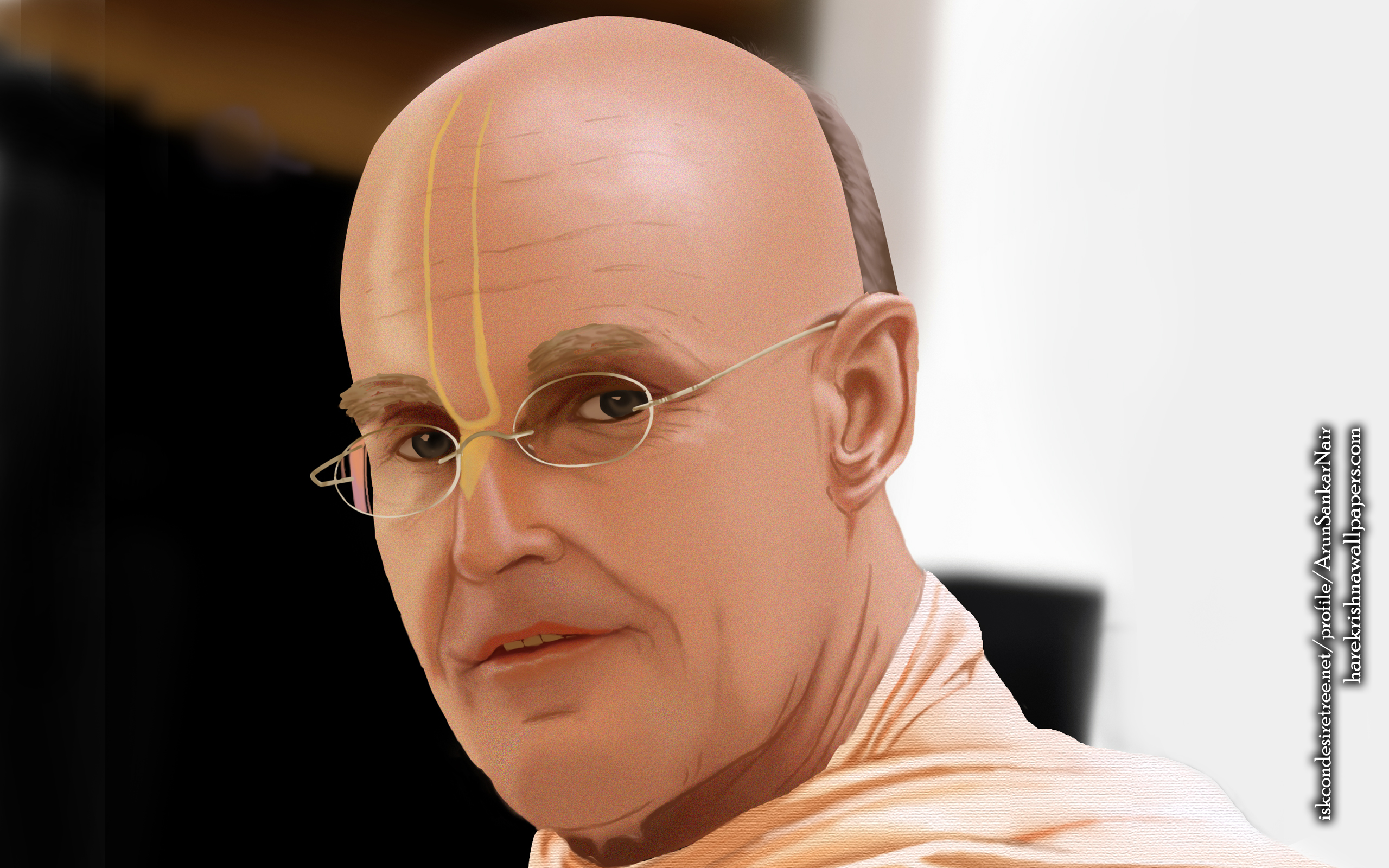 His Holiness Indradyumna Swami Wallpaper (003) Size 2560x1600 Download