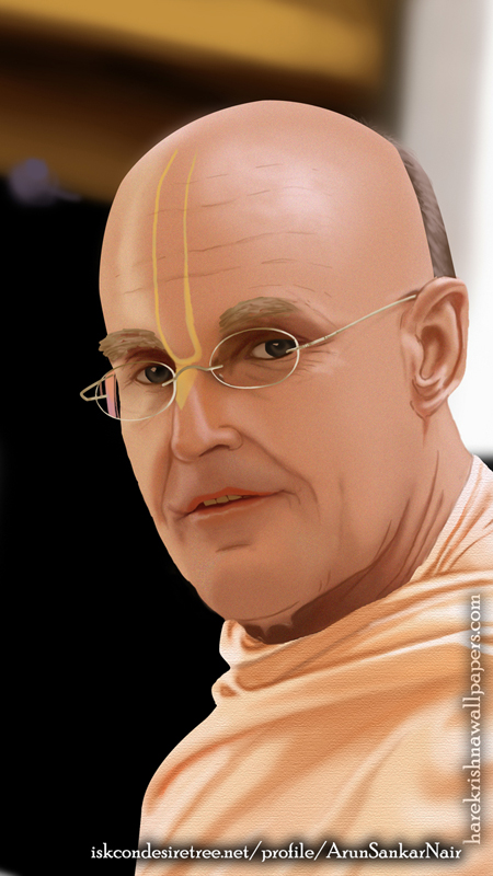 His Holiness Indradyumna Swami Wallpaper (003) Size 450x800 Download