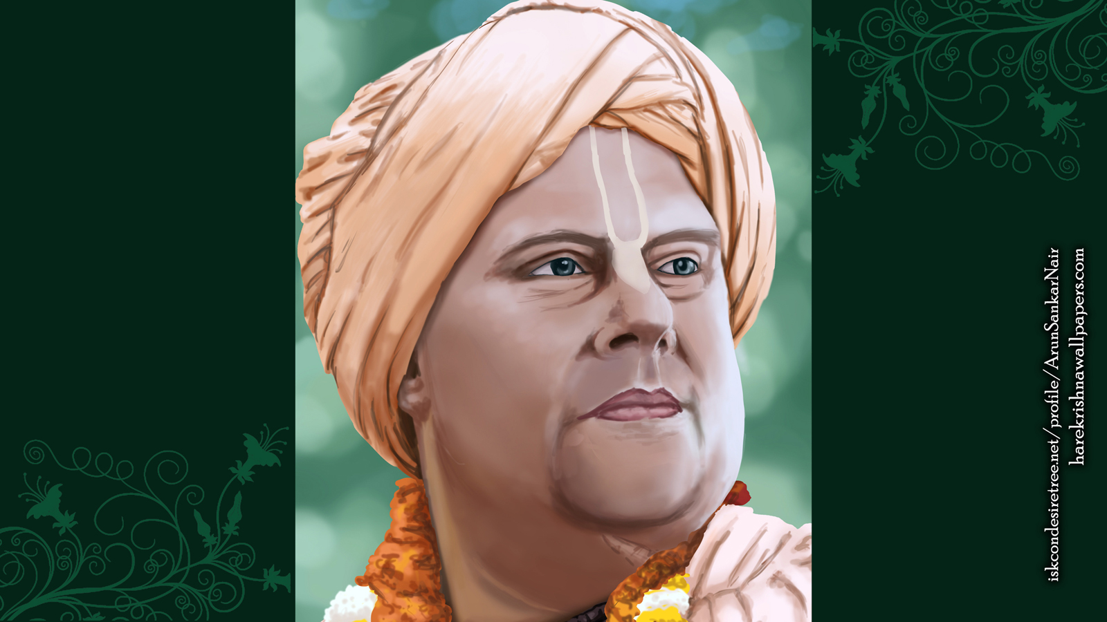 His Holiness Jayapataka Swami Wallpaper (004) Size 1600x900 Download