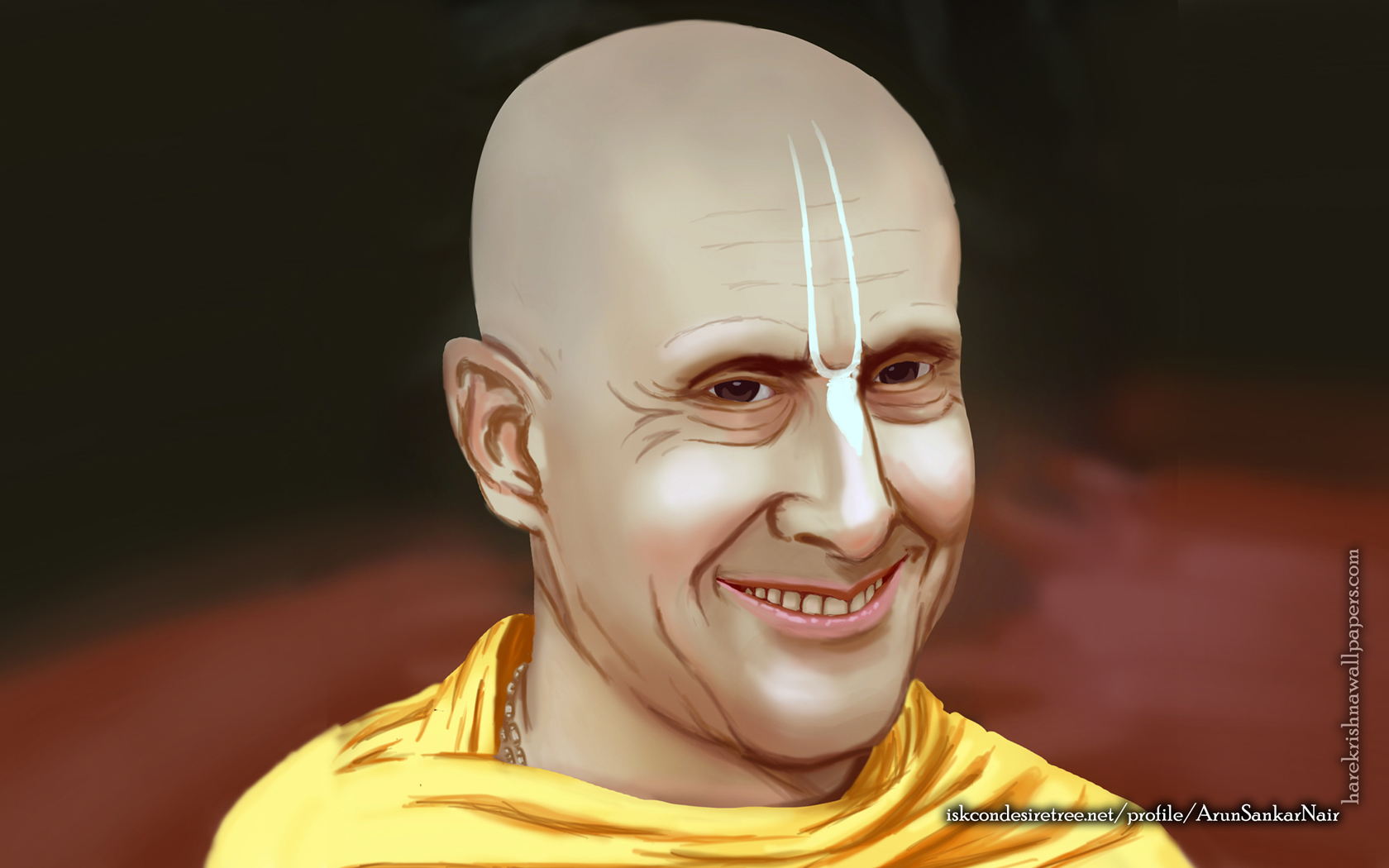 His Holiness Radhanath Swami Wallpaper (007) Size 1680x1050 Download