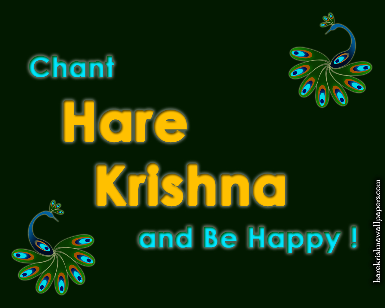 Chant Hare Krishna and be happy Wallpaper (006) Size 1280x1024 Download