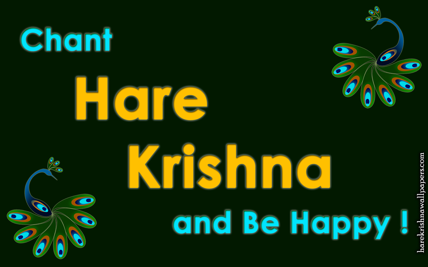 Chant Hare Krishna and be happy Wallpaper (006) Size 1440x900 Download