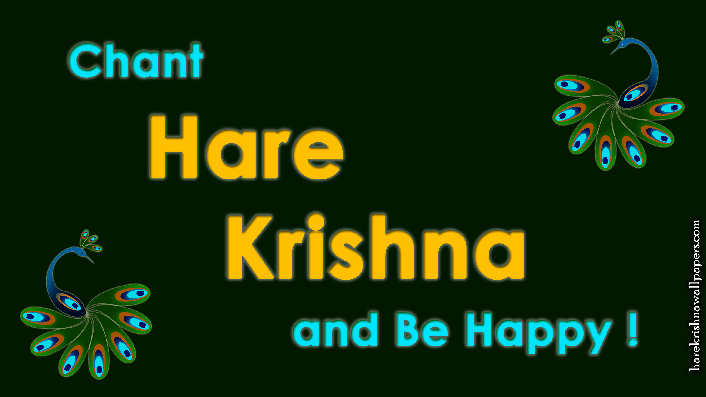 Chant Hare Krishna and be happy Wallpaper (006) Size 2400x1350 Download