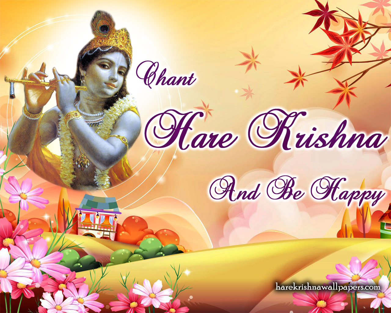 Chant Hare Krishna and be happy Wallpaper (007) Size 1280x1024 Download