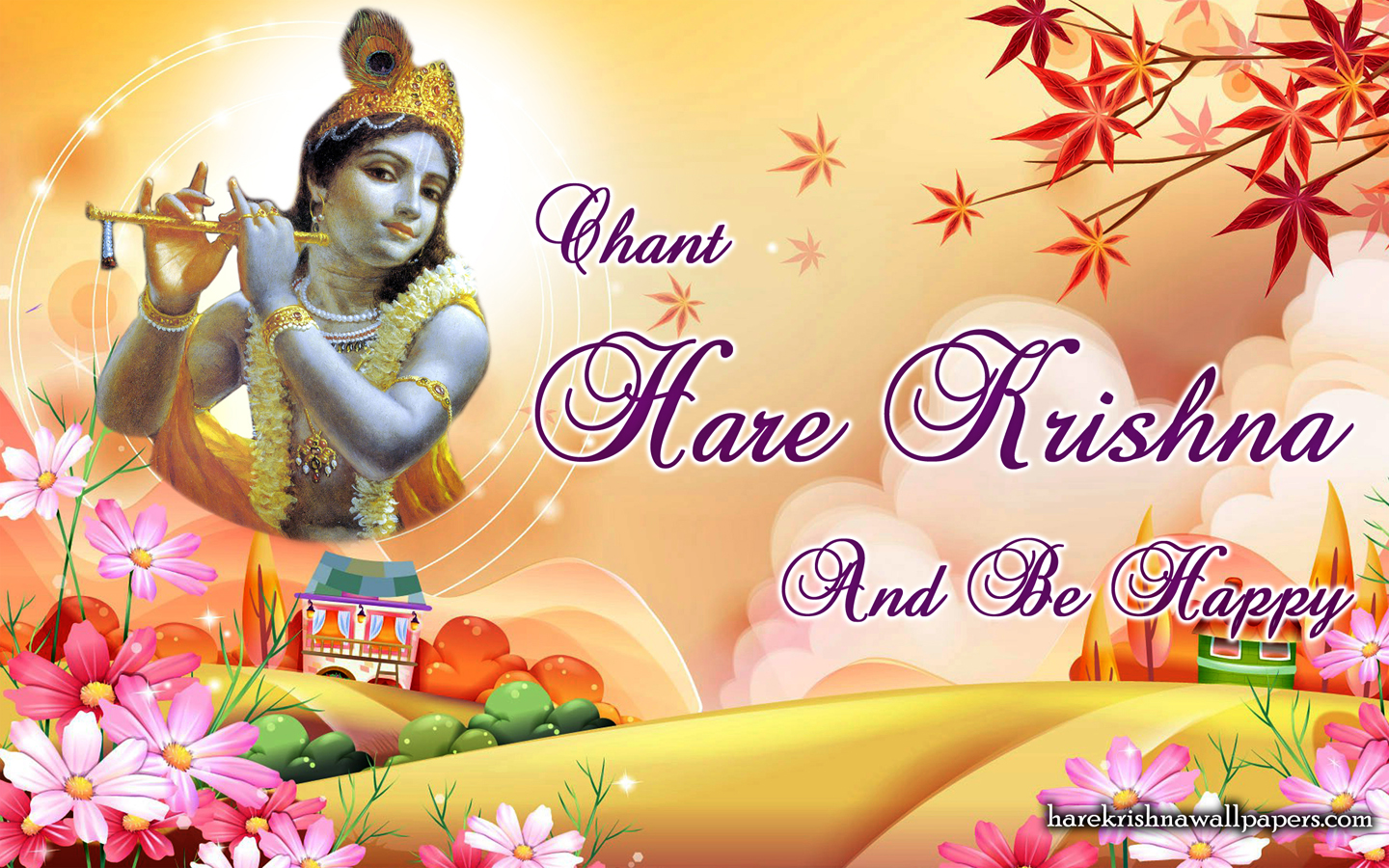Chant Hare Krishna and be happy Wallpaper (007) Size 1440x900 Download