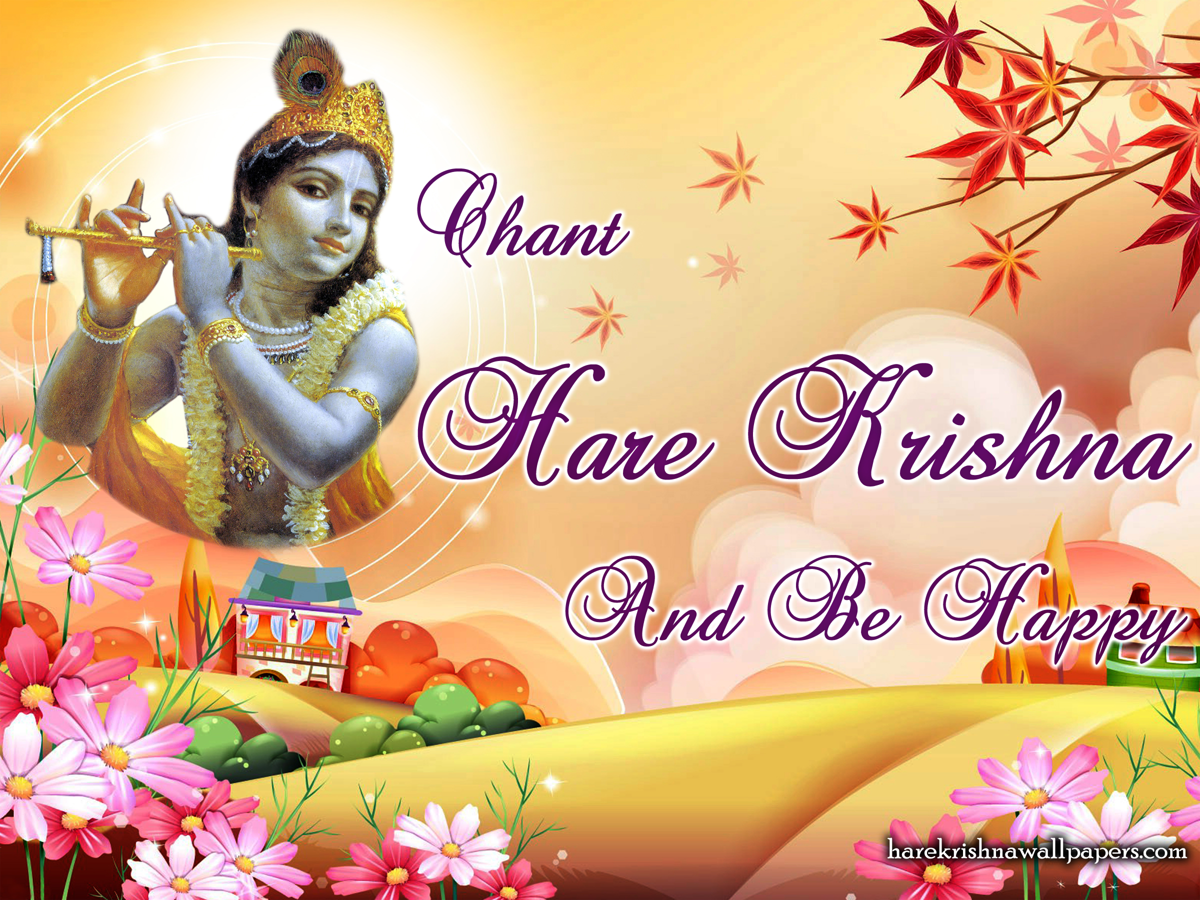 Chant Hare Krishna and be happy Wallpaper (007) Size 2400x1800 Download