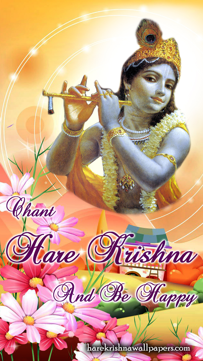 Chant Hare Krishna and be happy Wallpaper (007) Size 675x1200 Download