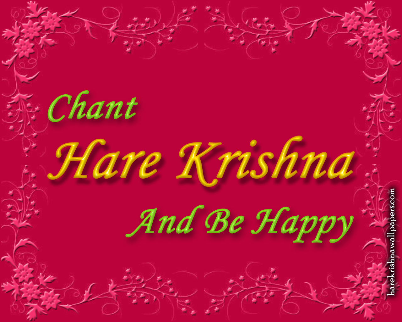 Chant Hare Krishna and be happy Wallpaper (008) Size 1280x1024 Download