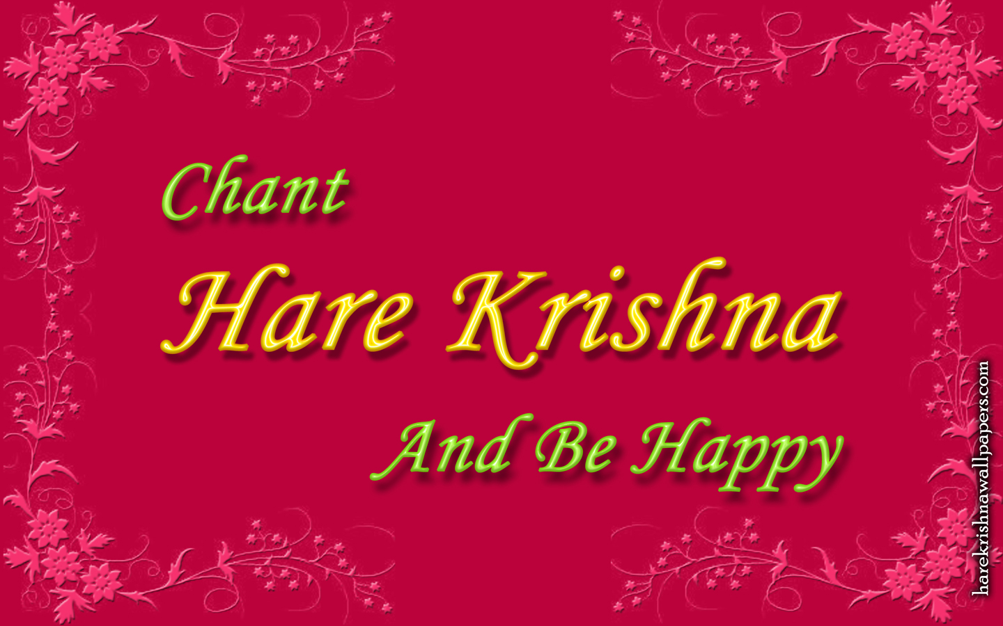 Chant Hare Krishna and be happy Wallpaper (008) Size 1440x900 Download