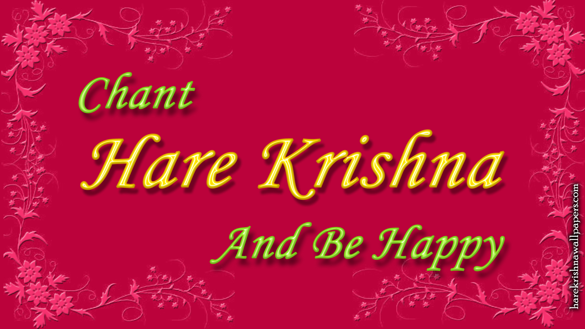 Chant Hare Krishna and be happy Wallpaper (008) Size 1920x1080 Download