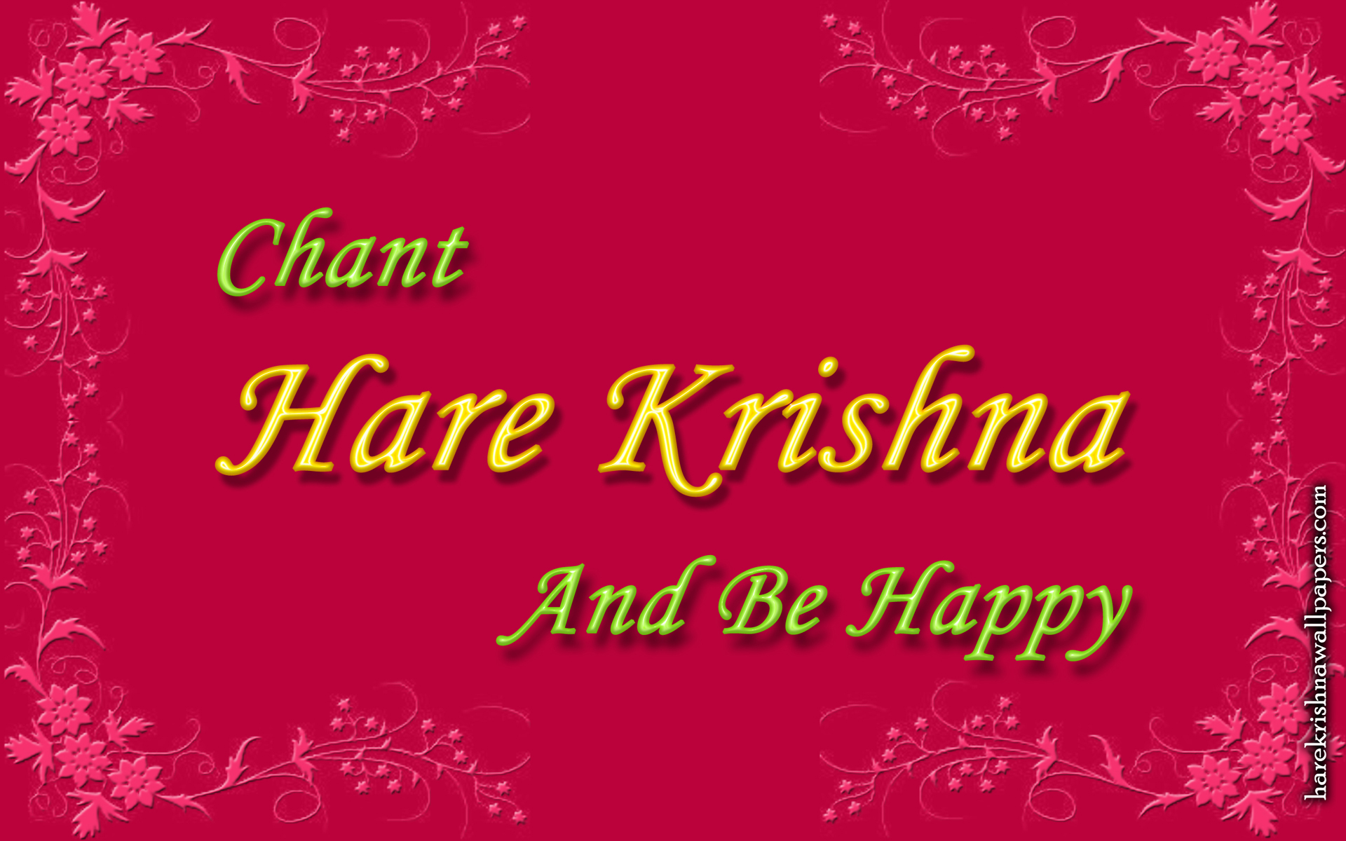 Chant Hare Krishna and be happy Wallpaper (008) Size 1920x1200 Download