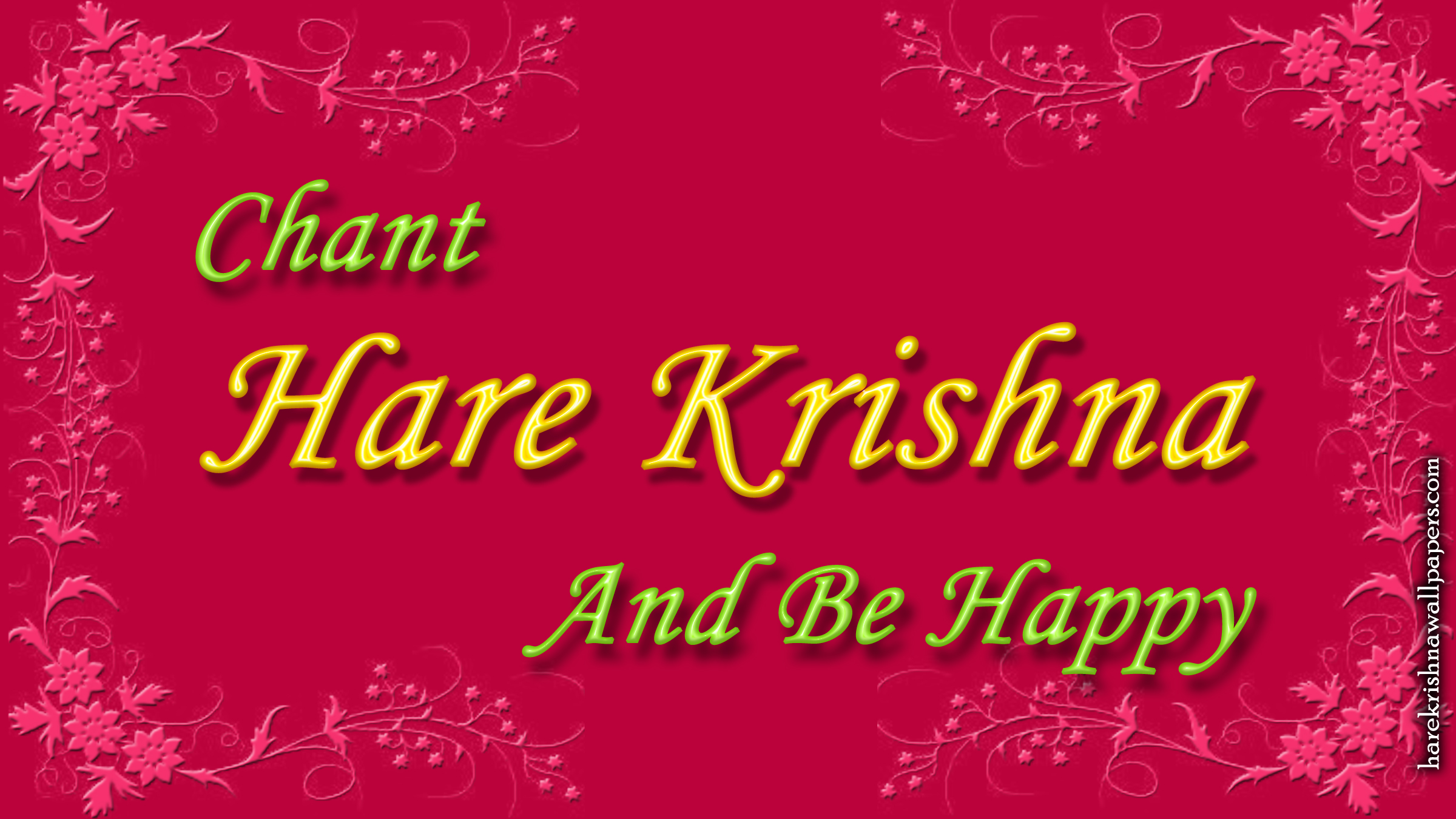 Chant Hare Krishna and be happy Wallpaper (008) Size 2400x1350 Download