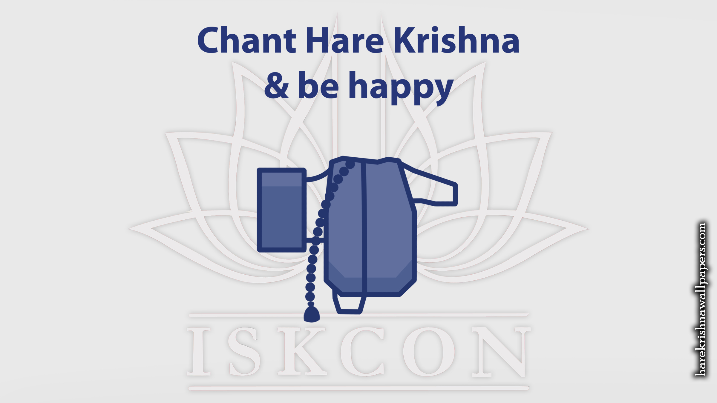 Chant Hare Krishna and be happy Wallpaper (009) Size 2400x1350 Download