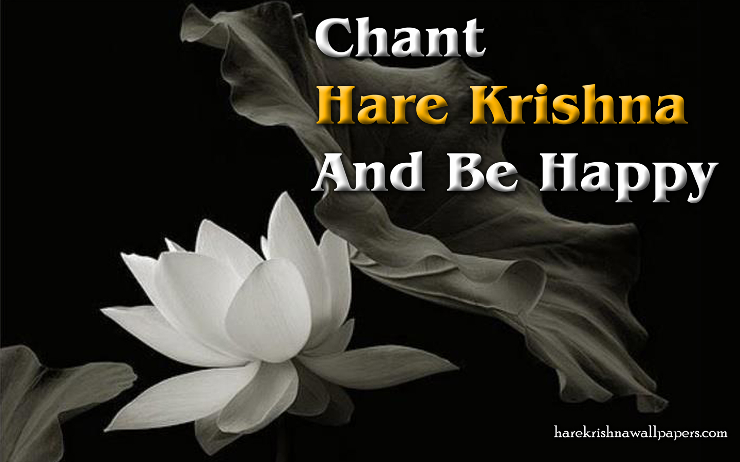Chant Hare Krishna and be happy Wallpaper (010) Size 1440x900 Download