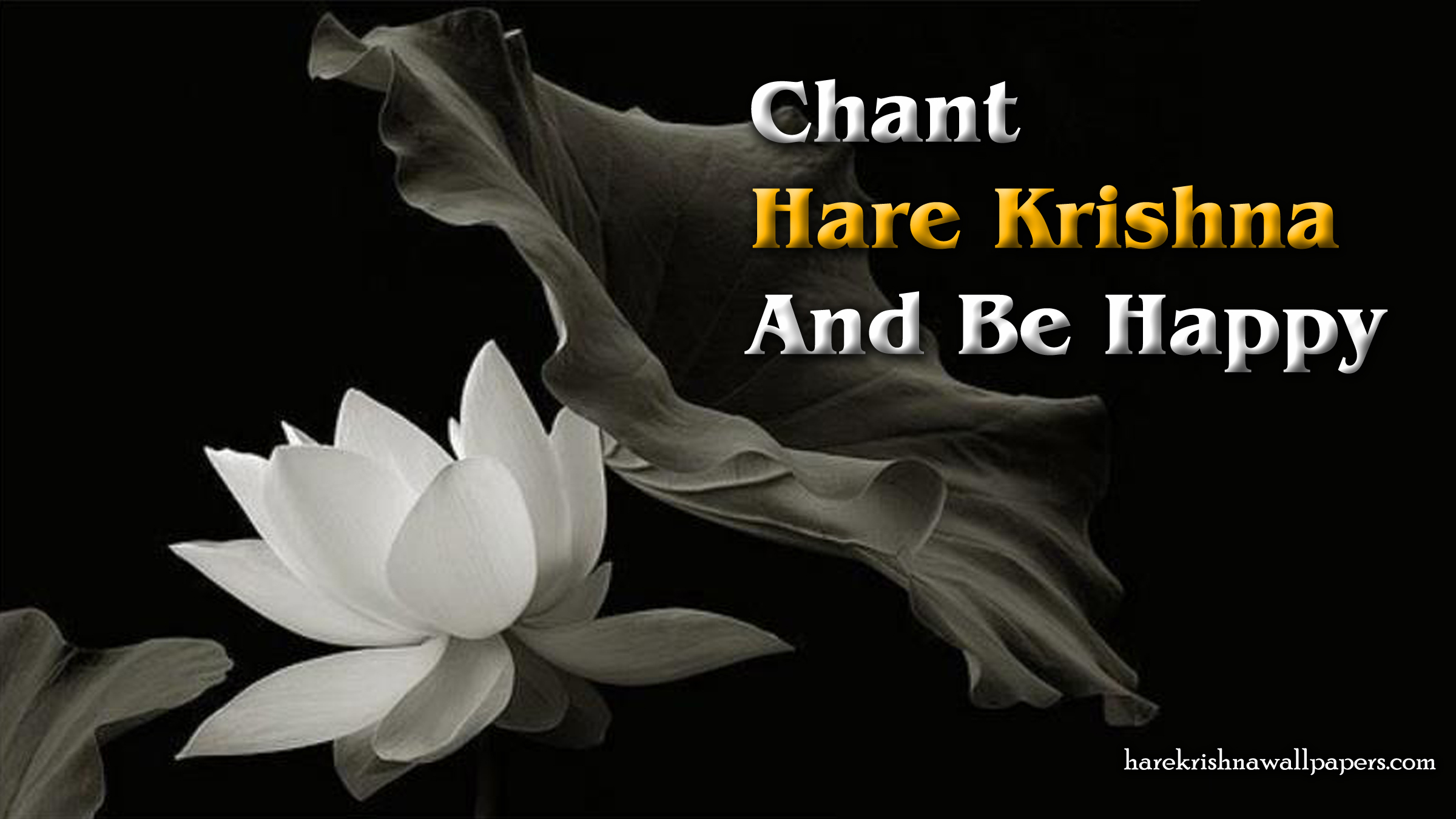 Chant Hare Krishna and be happy Wallpaper (010) Size 2400x1350 Download