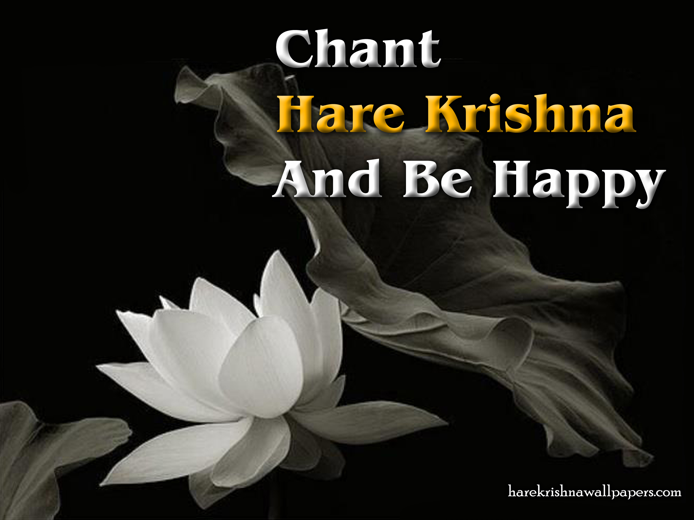Chant Hare Krishna and be happy Wallpaper (010) Size 2400x1800 Download