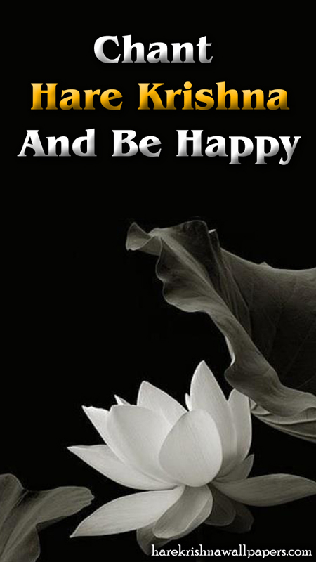 Chant Hare Krishna and be happy Wallpaper (010) Size 450x800 Download