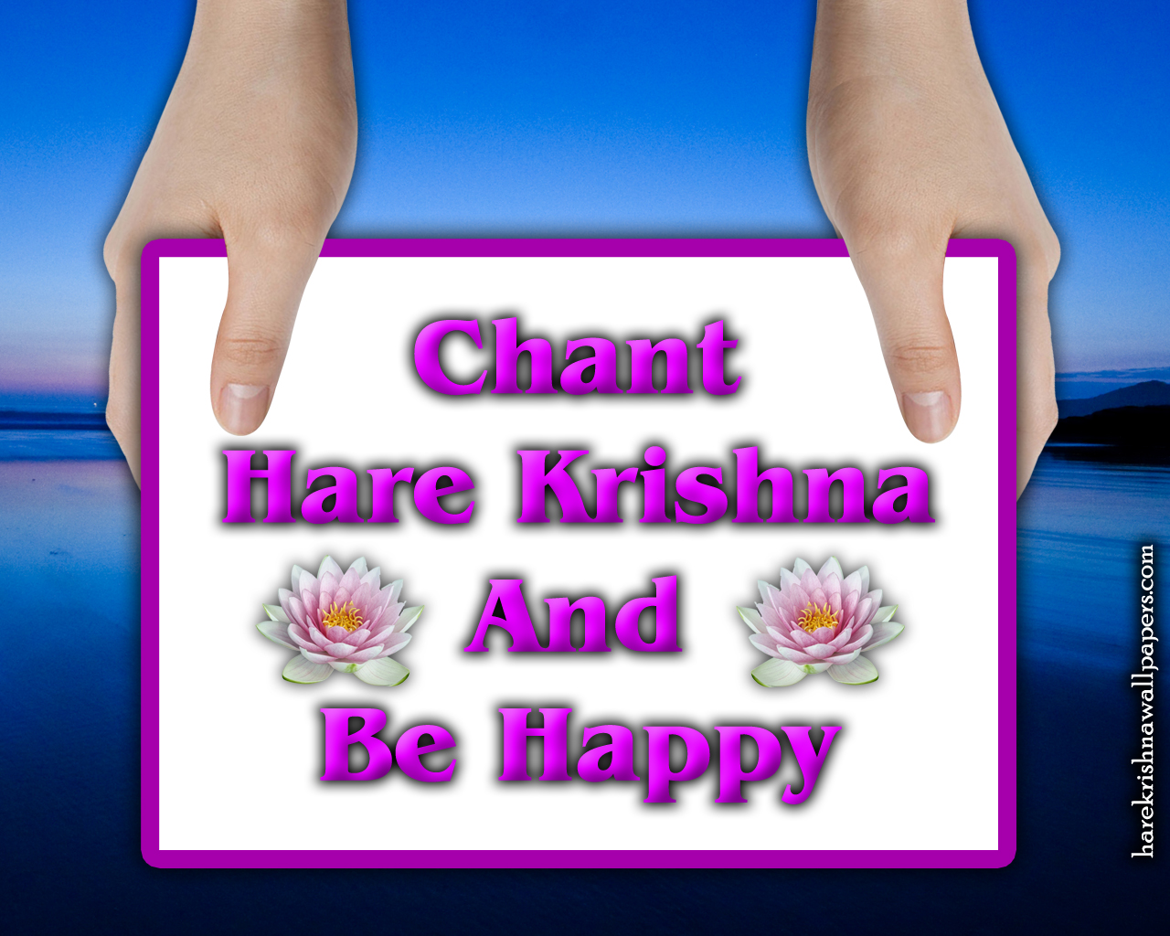 Chant Hare Krishna and be happy Wallpaper (011) Size 1280x1024 Download