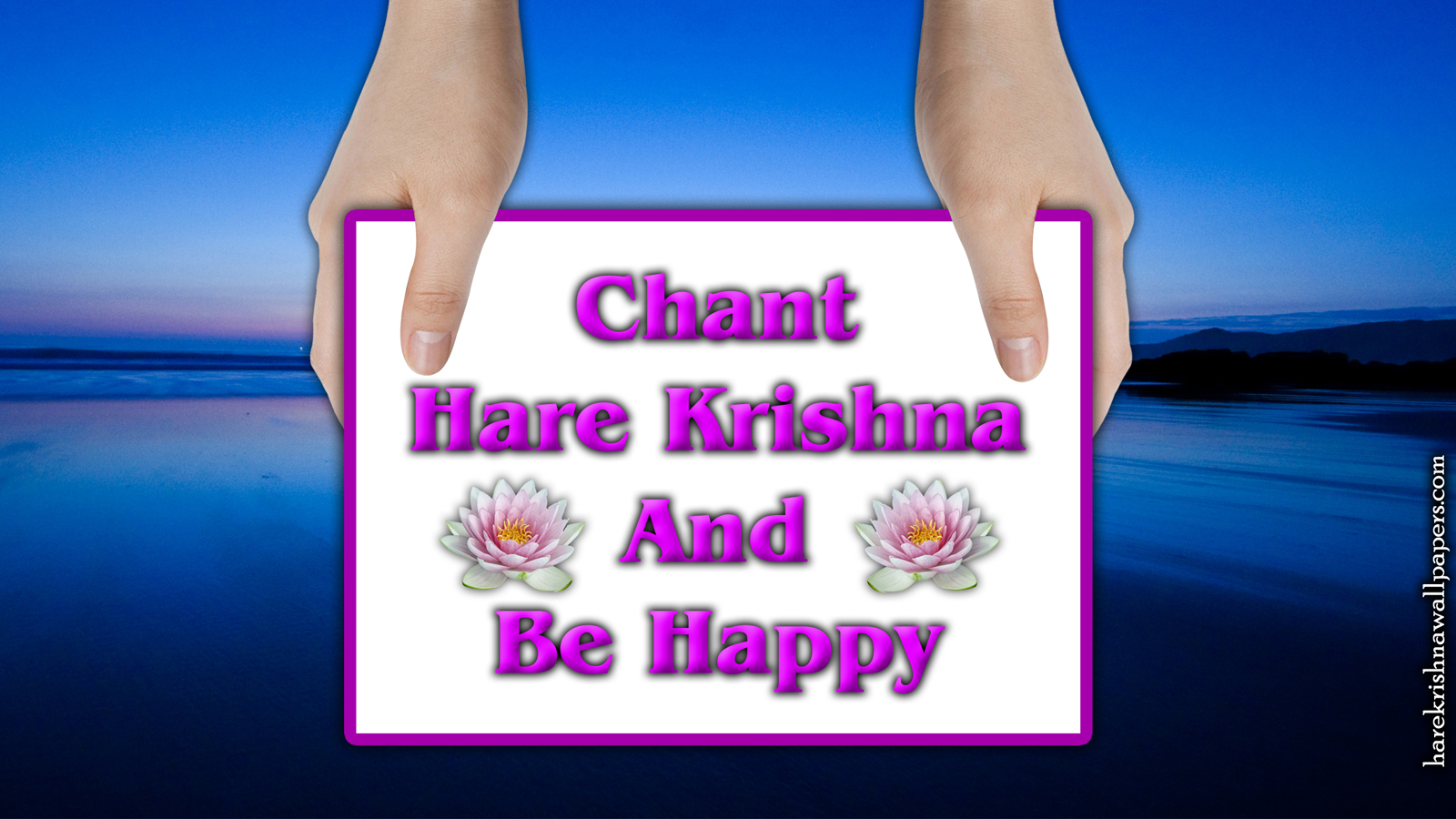 Chant Hare Krishna and be happy Wallpaper (011) Size 1600x900 Download