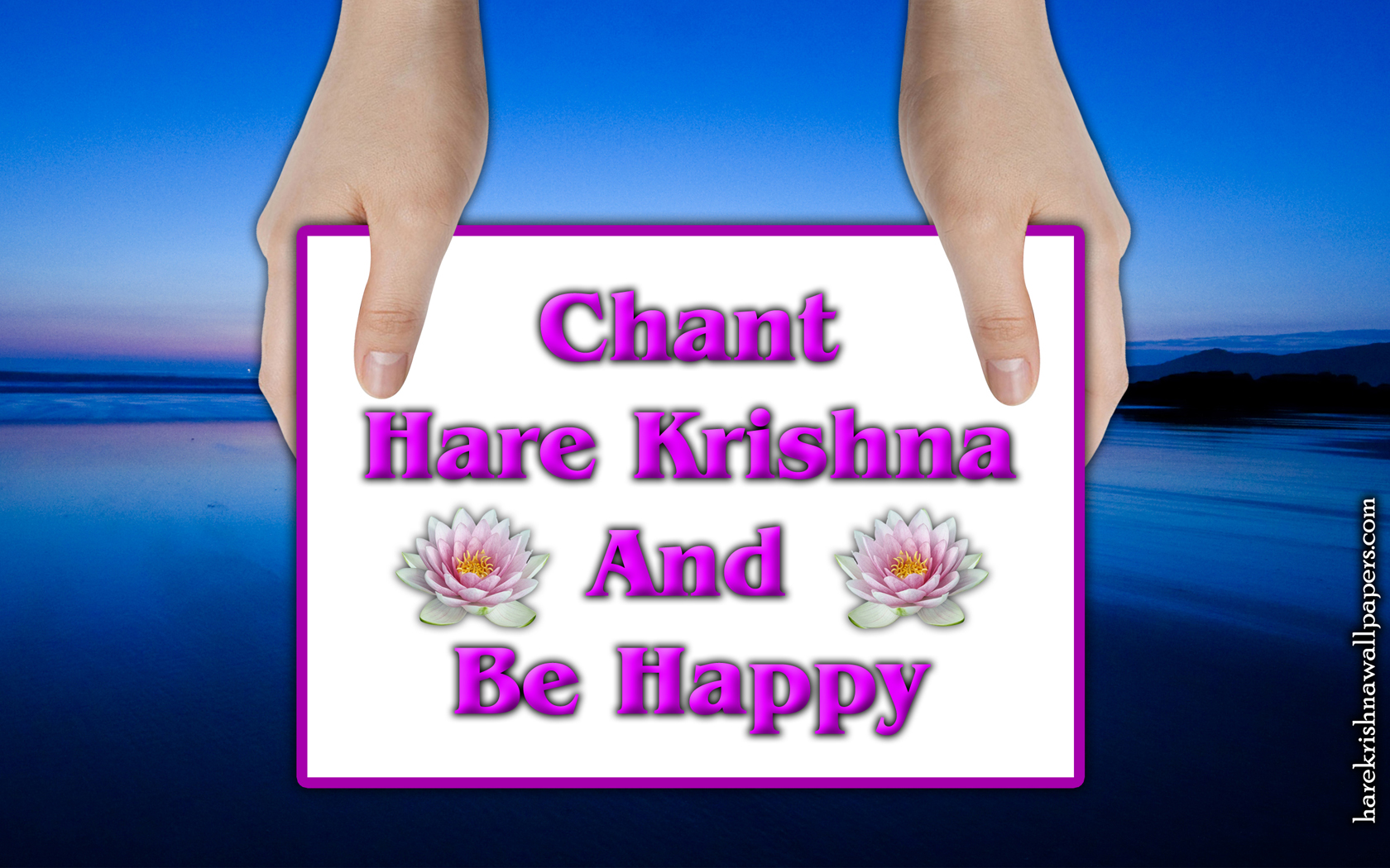 Chant Hare Krishna and be happy Wallpaper (011) Size 1680x1050 Download