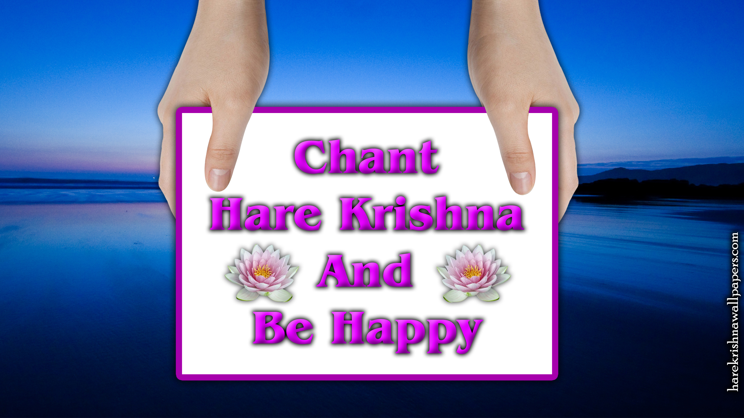 Chant Hare Krishna and be happy Wallpaper (011) Size 2400x1350 Download