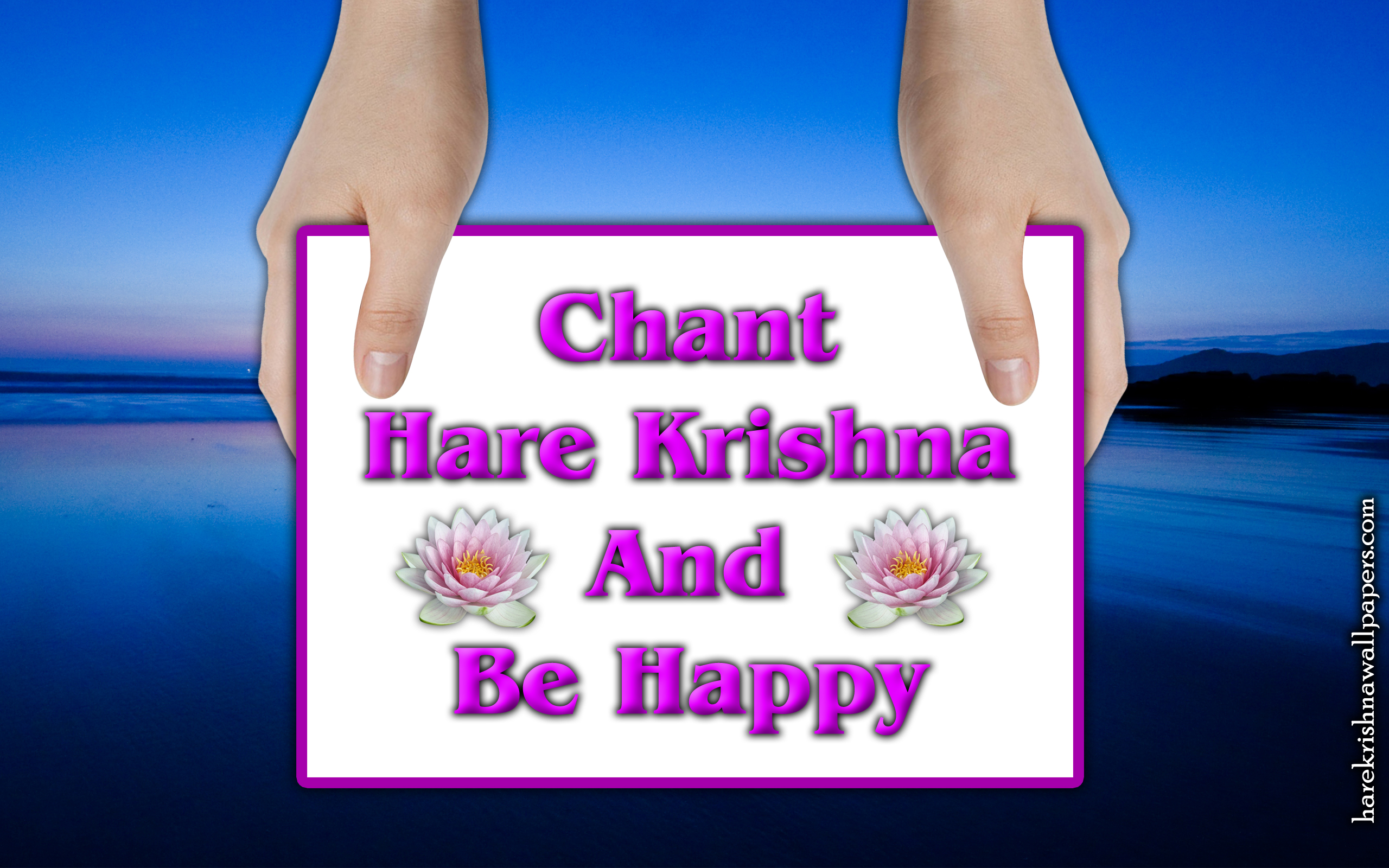 Chant Hare Krishna and be happy Wallpaper (011) Size 2560x1600 Download