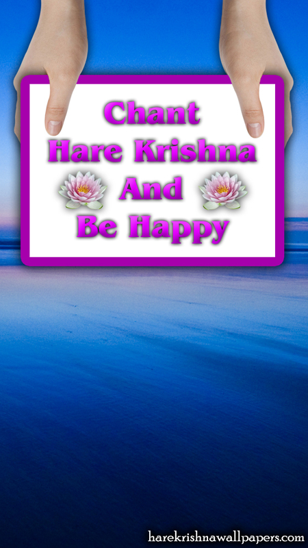 Chant Hare Krishna and be happy Wallpaper (011) Size 450x800 Download