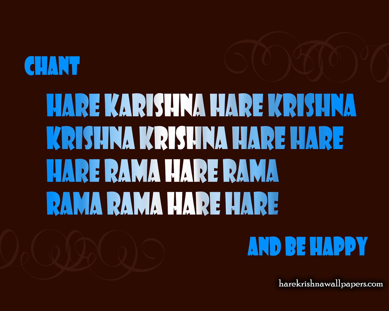 Chant Hare Krishna and be happy Wallpaper (012) Size 1280x1024 Download