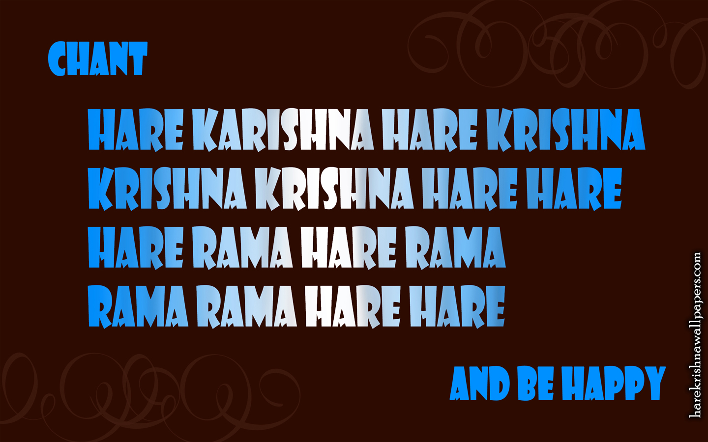 Chant Hare Krishna and be happy Wallpaper (012) Size 1440x900 Download
