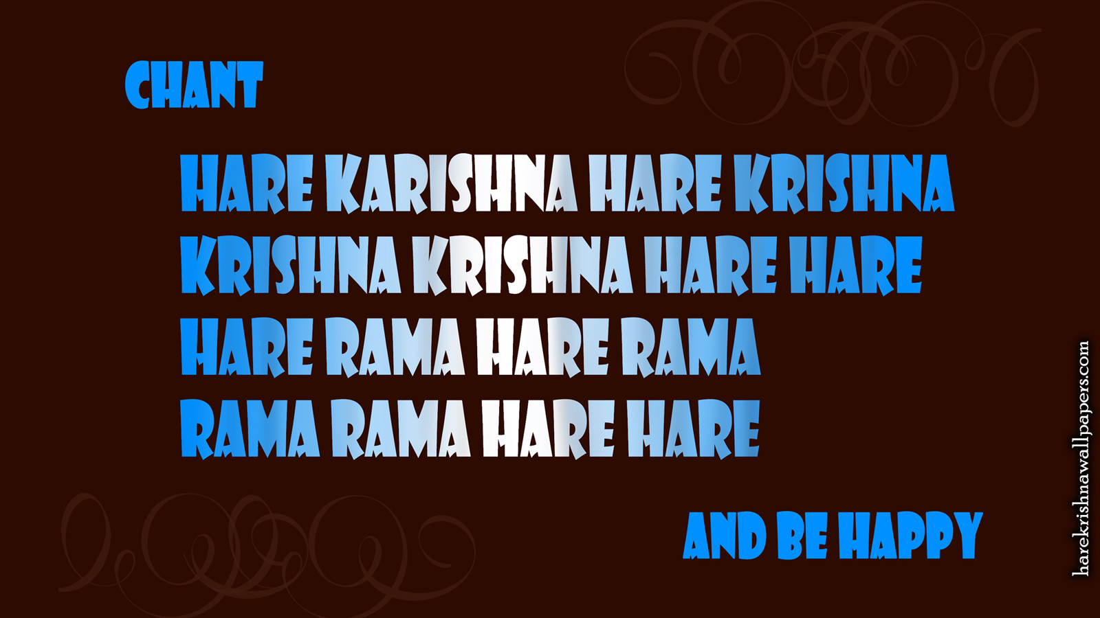 Chant Hare Krishna and be happy Wallpaper (012) Size 1600x900 Download