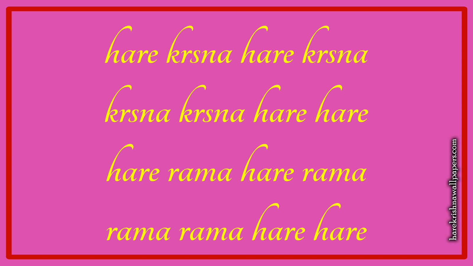 Chant Hare Krishna Mahamantra Wallpaper (016) Size 1600x900 Download