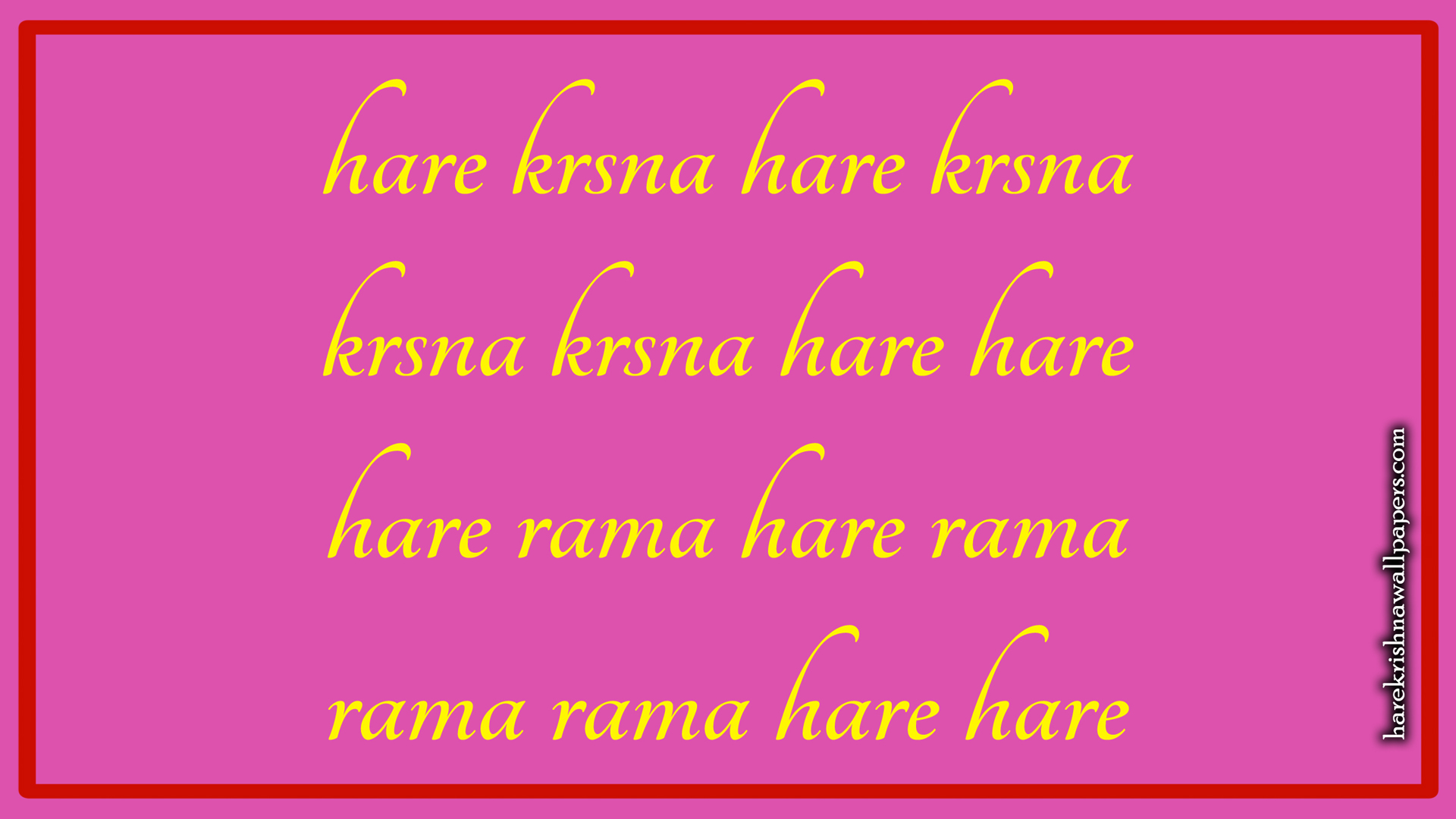 Chant Hare Krishna Mahamantra Wallpaper (016) Size 1920x1080 Download