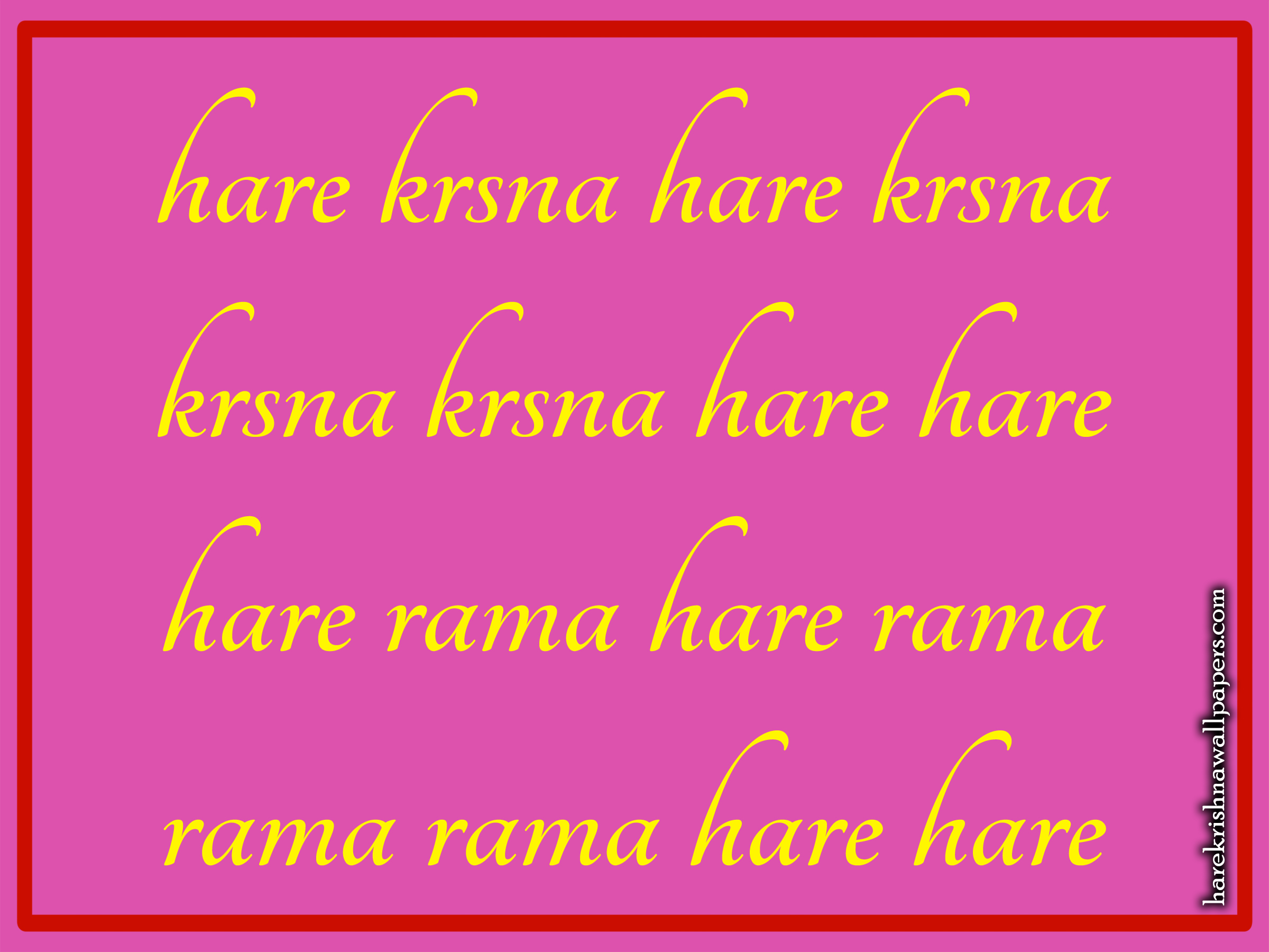 Chant Hare Krishna Mahamantra Wallpaper (016) Size 2400x1800 Download