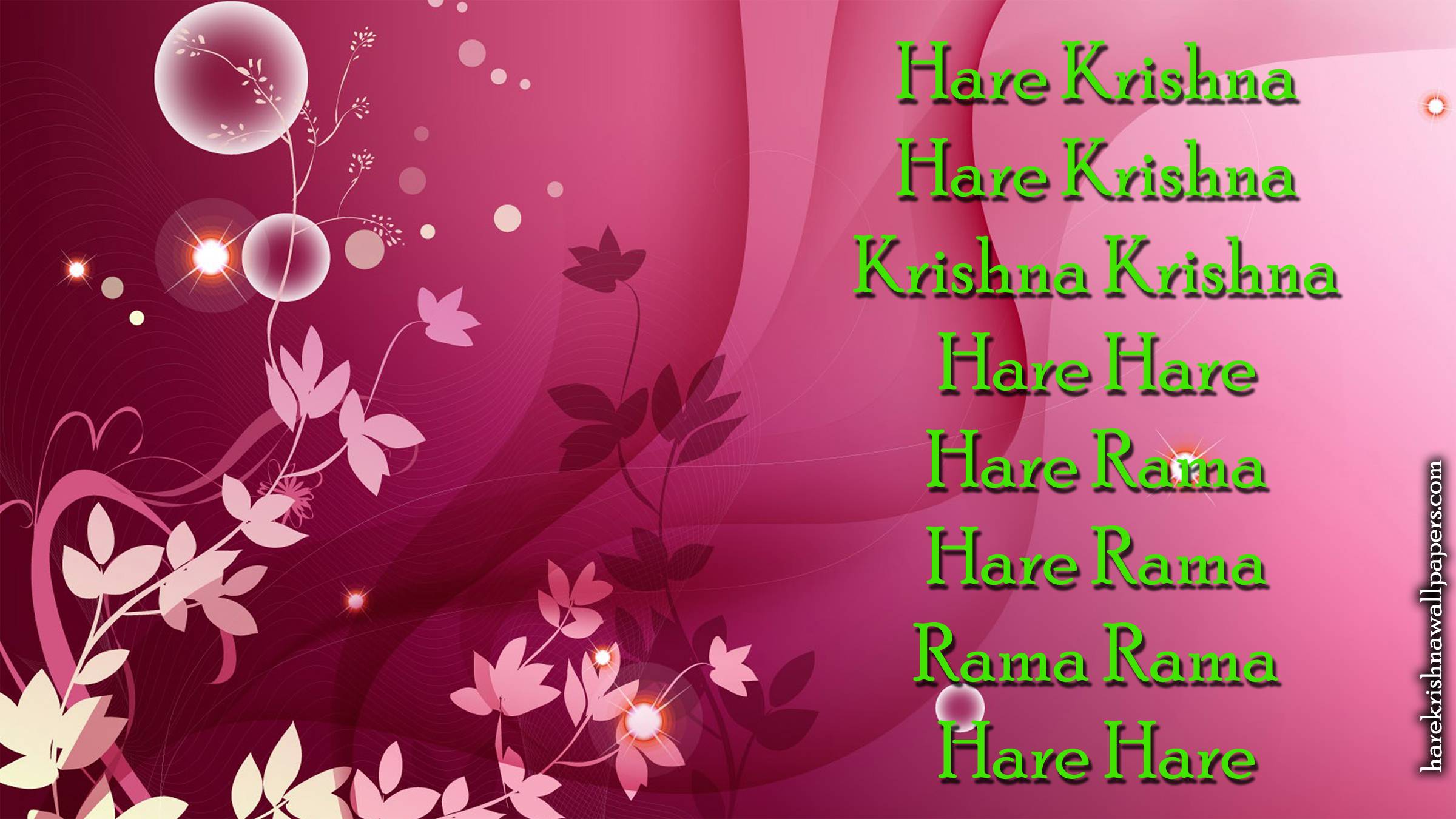 Chant Hare Krishna Mahamantra Wallpaper (017) Size 2400x1350 Download