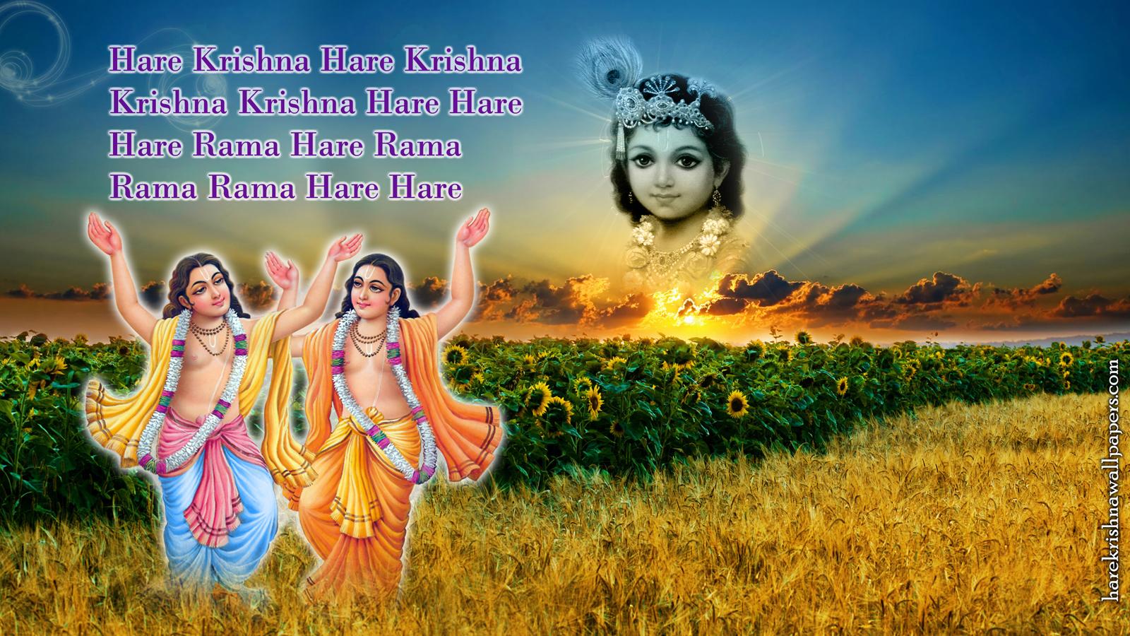 Chant Hare Krishna Mahamantra Wallpaper (018) Size 1600x900 Download