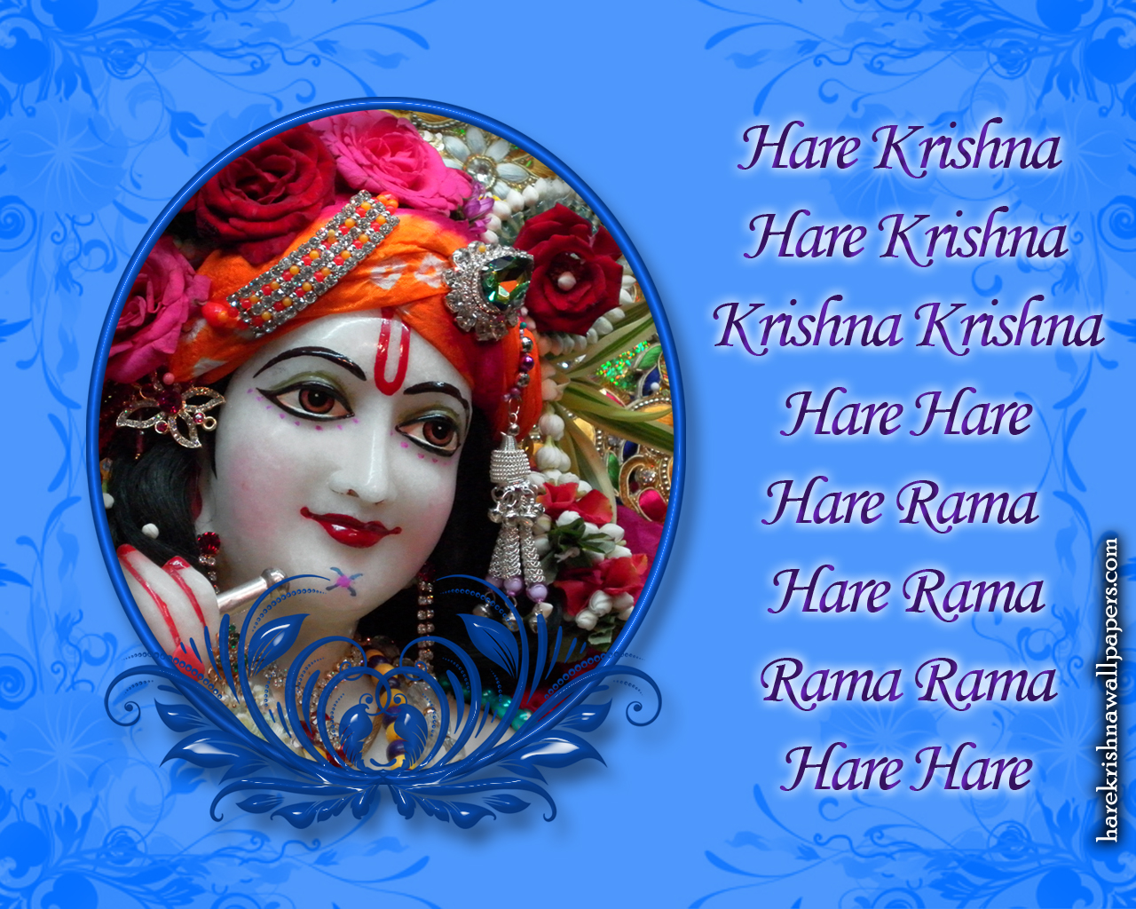 Chant Hare Krishna Mahamantra Wallpaper (019) Size 1280x1024 Download