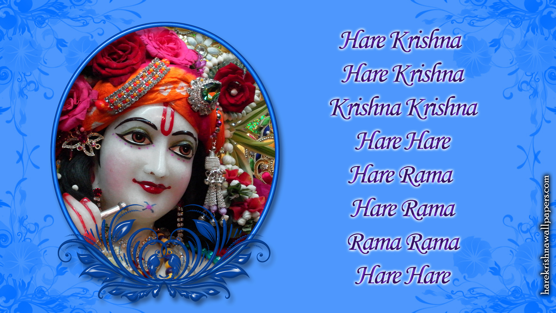 Chant Hare Krishna Mahamantra Wallpaper (019) Size 1920x1080 Download