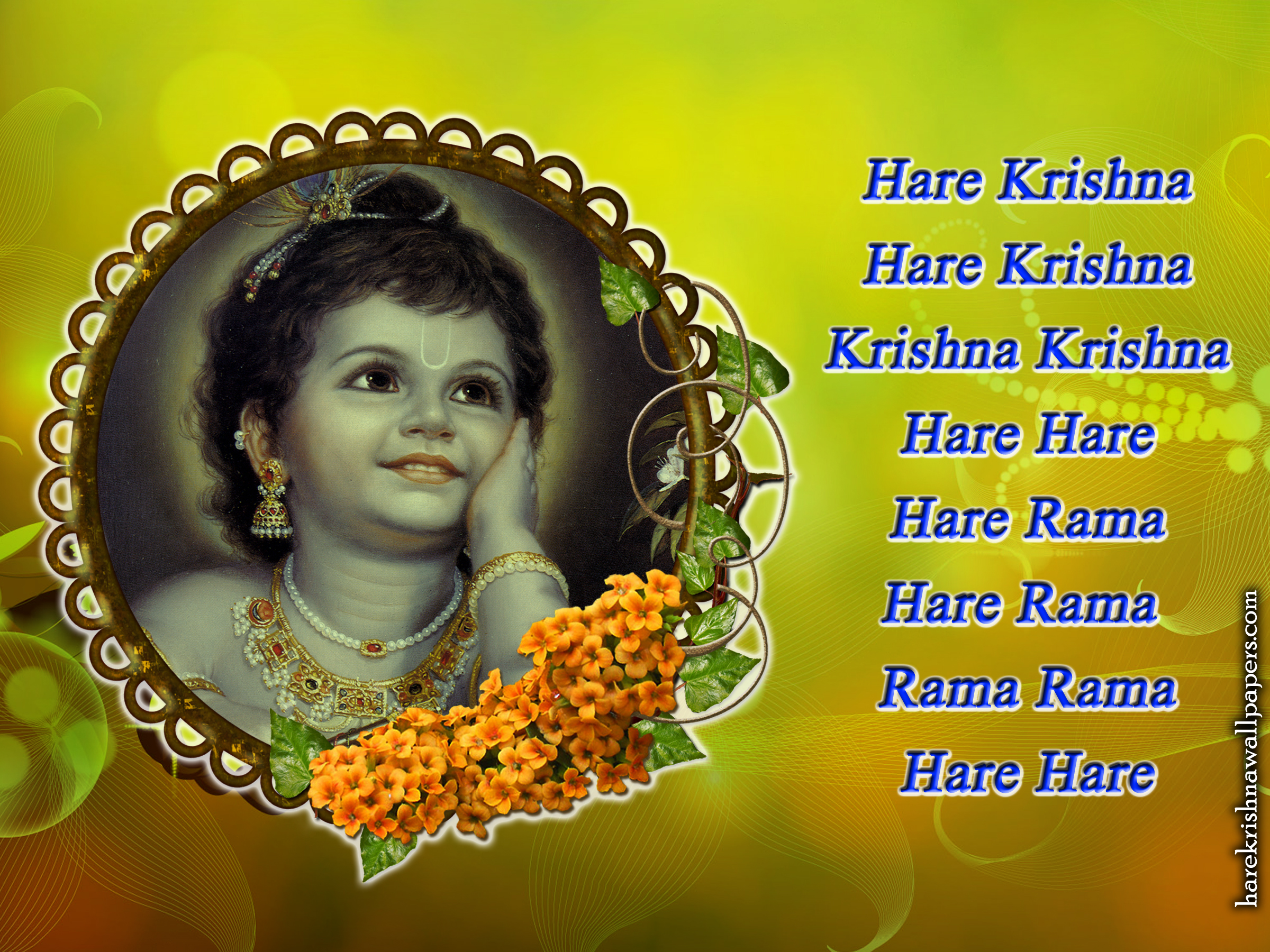 Chant Hare Krishna Mahamantra Wallpaper (020) Size 2400x1800 Download
