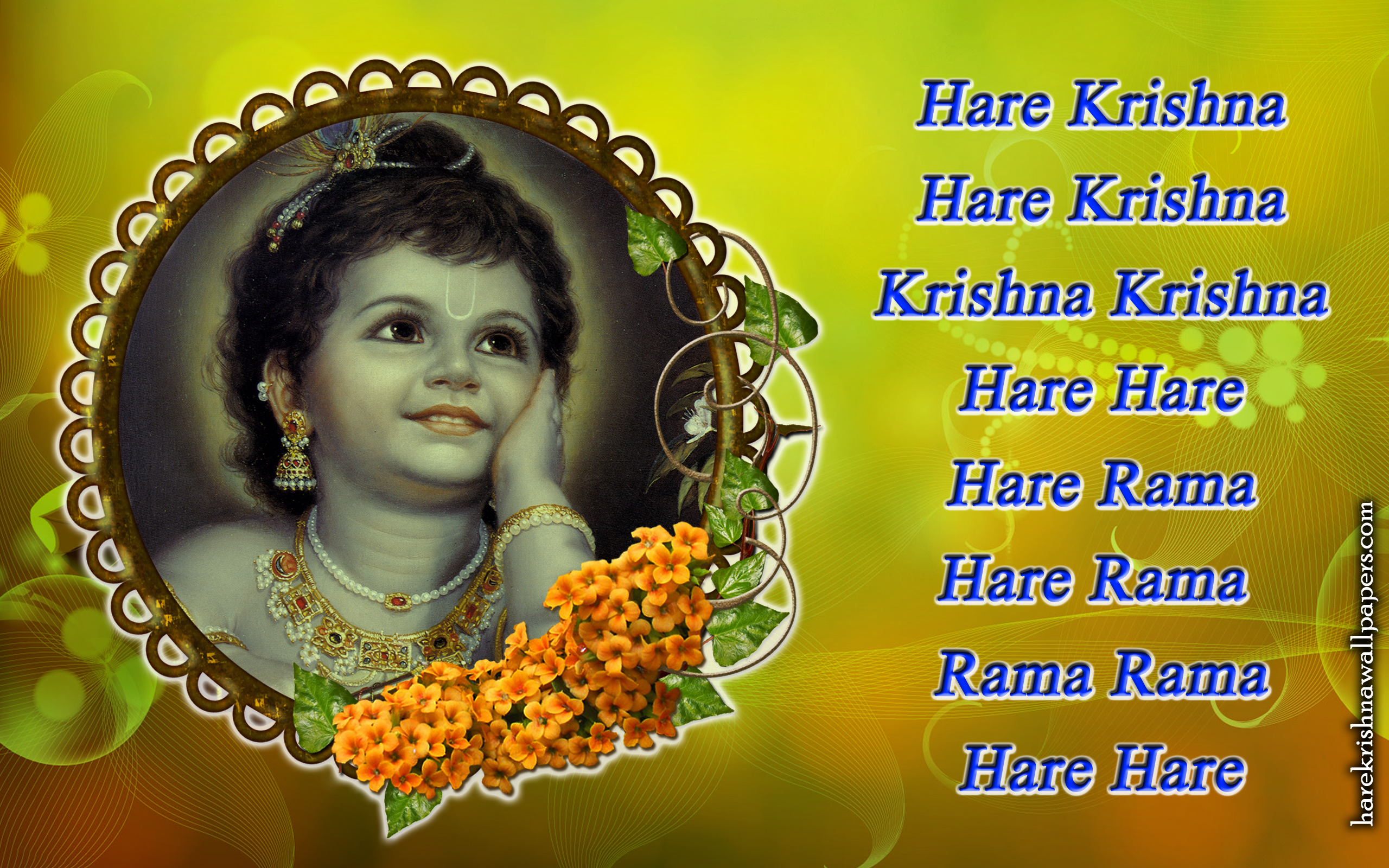 Chant Hare Krishna Mahamantra Wallpaper (020) Size 2560x1600 Download