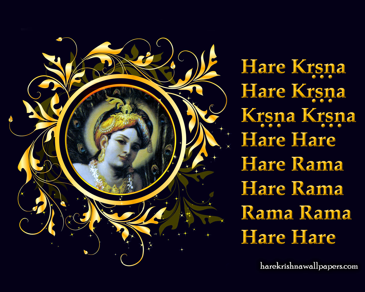Chant Hare Krishna Mahamantra Wallpaper (024) Size 1280x1024 Download