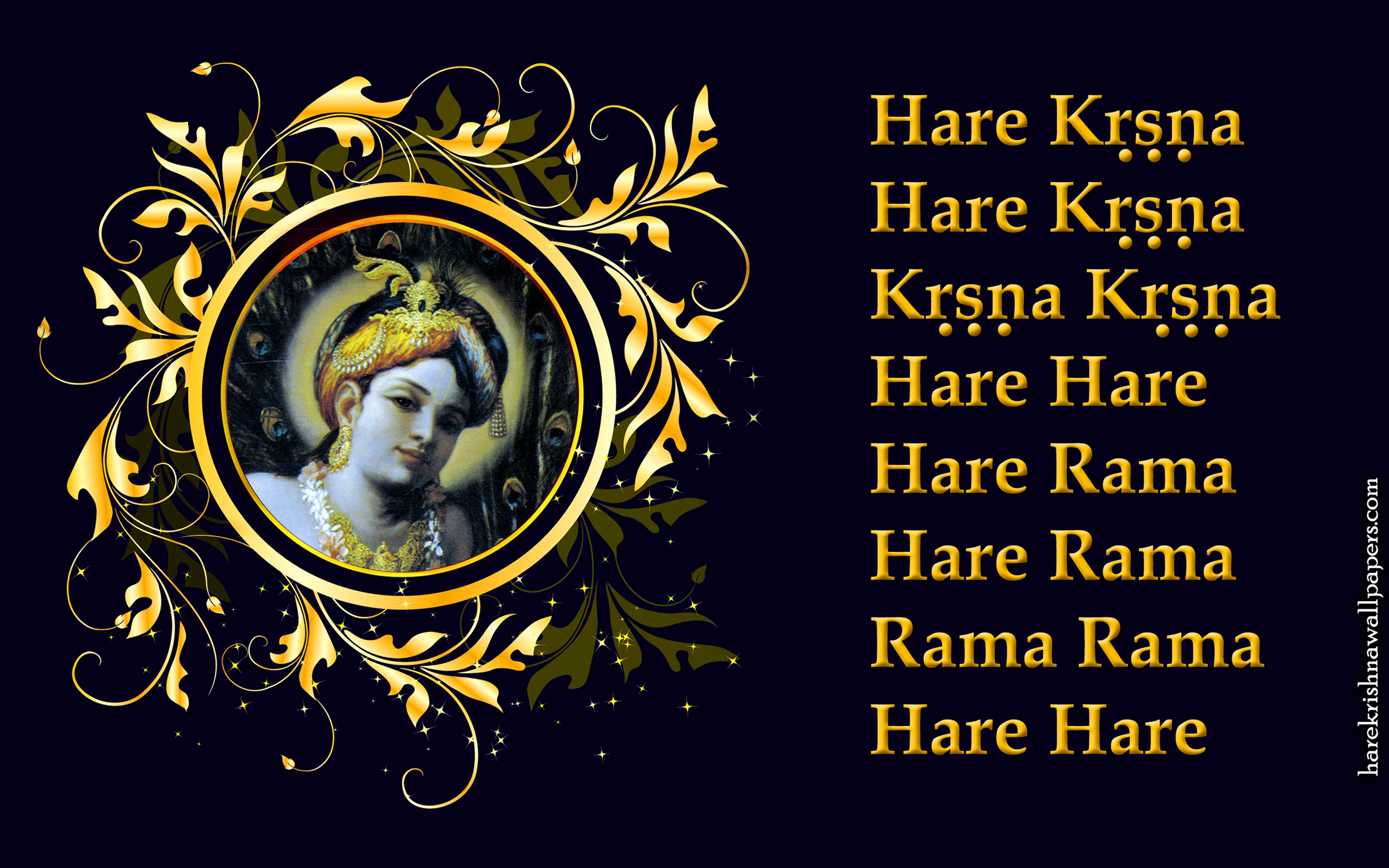 Chant Hare Krishna Mahamantra Wallpaper (024) Size 2560x1600 Download