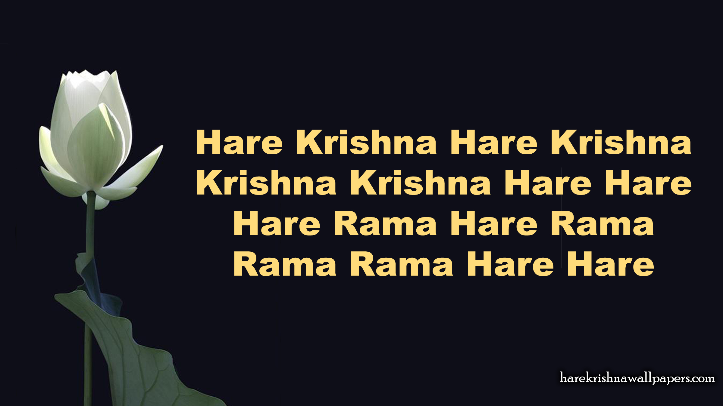 Chant Hare Krishna Mahamantra Wallpaper (025) Size 2400x1350 Download