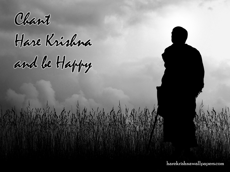 Chant Hare Krishna and be happy Wallpaper (001)