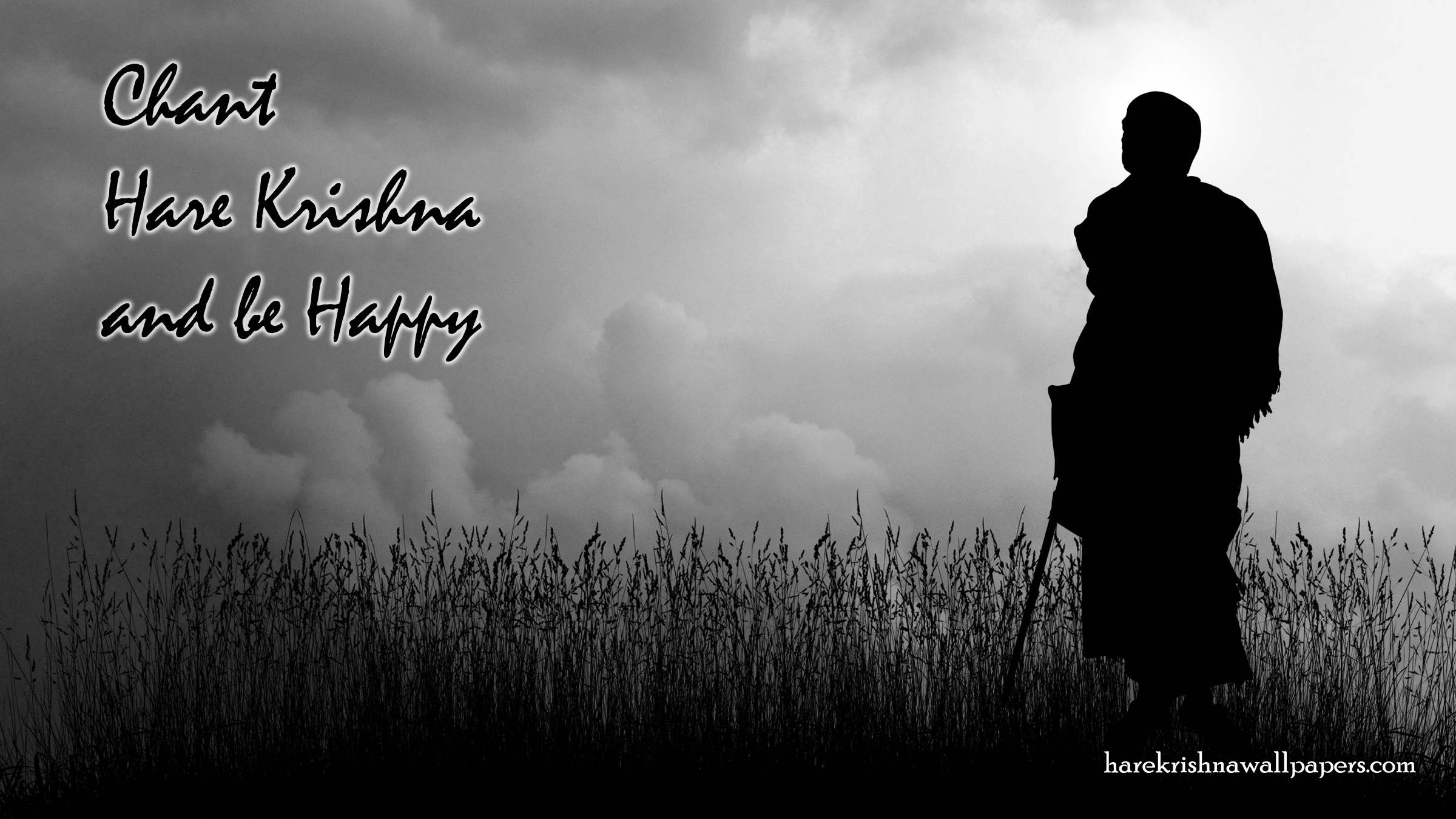 Chant Hare Krishna and be happy Wallpaper (001) Size 2400x1350 Download