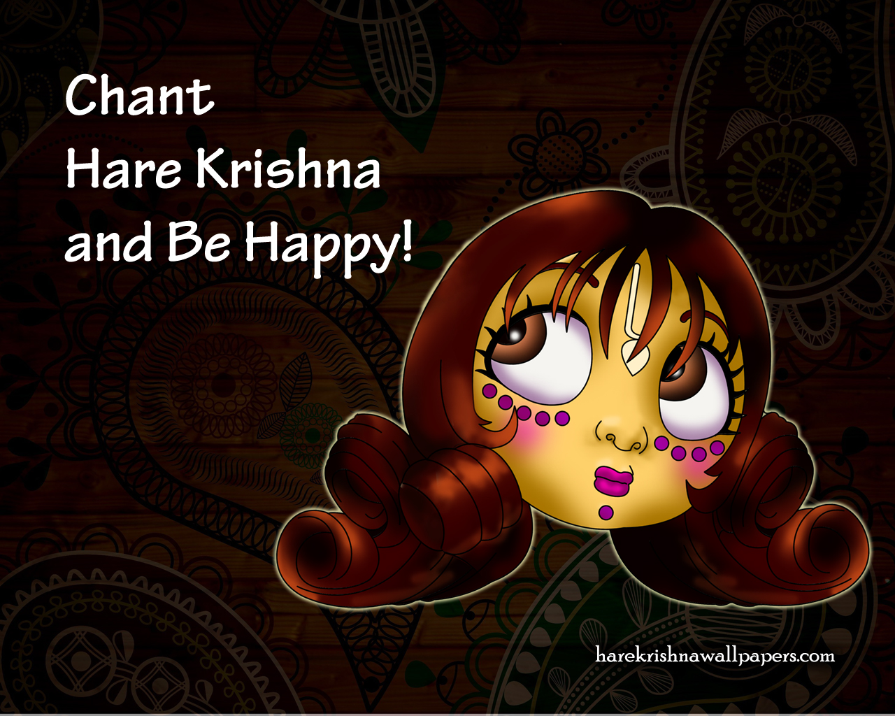 Chant Hare Krishna and be happy Wallpaper (002) Size 1280x1024 Download